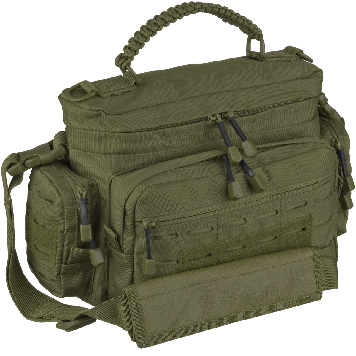 Mil tec tactical paracord bag small olive shoulder bags for How to make a paracord bag