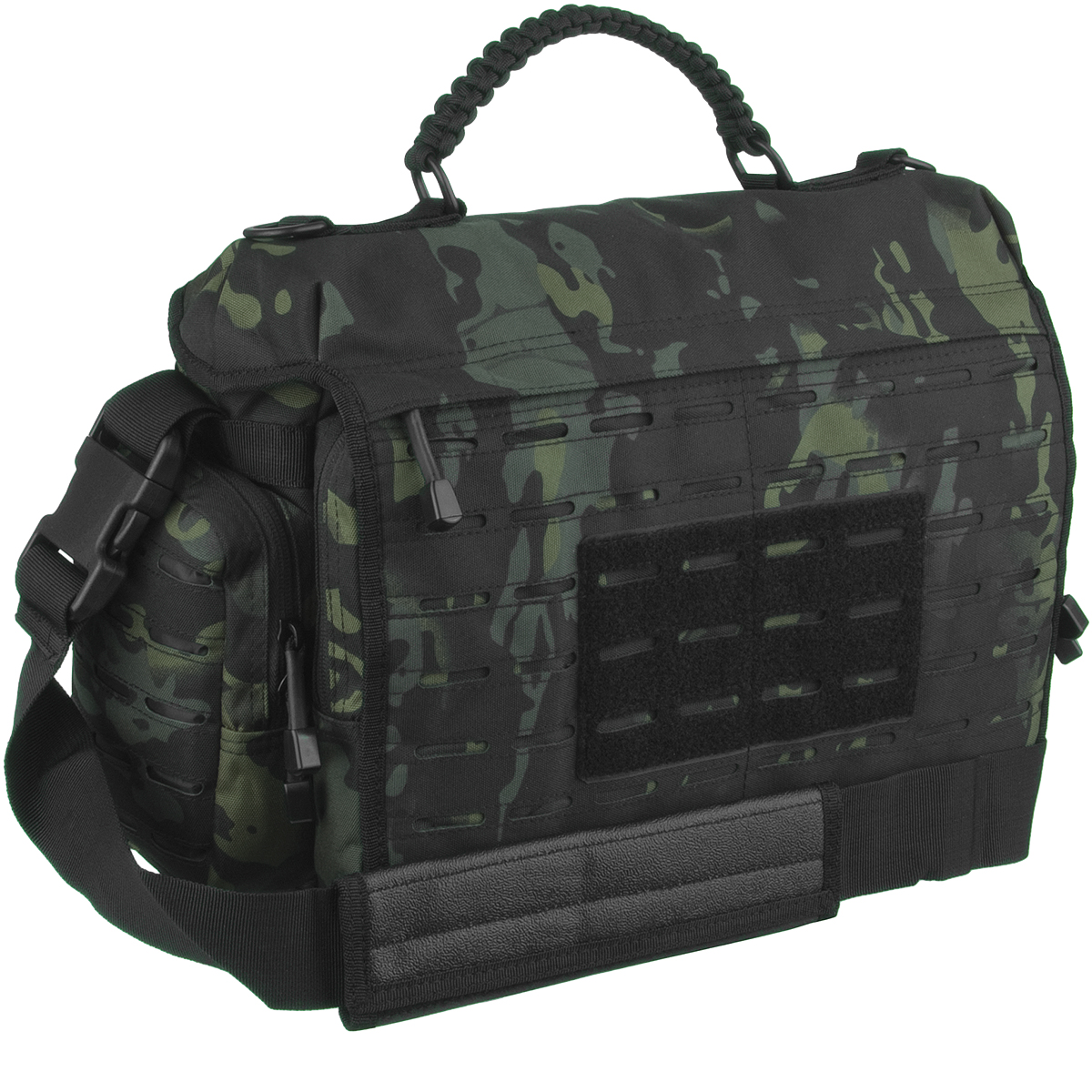 Mil tec tactical paracord bag large multitarn black for How to make a paracord bag