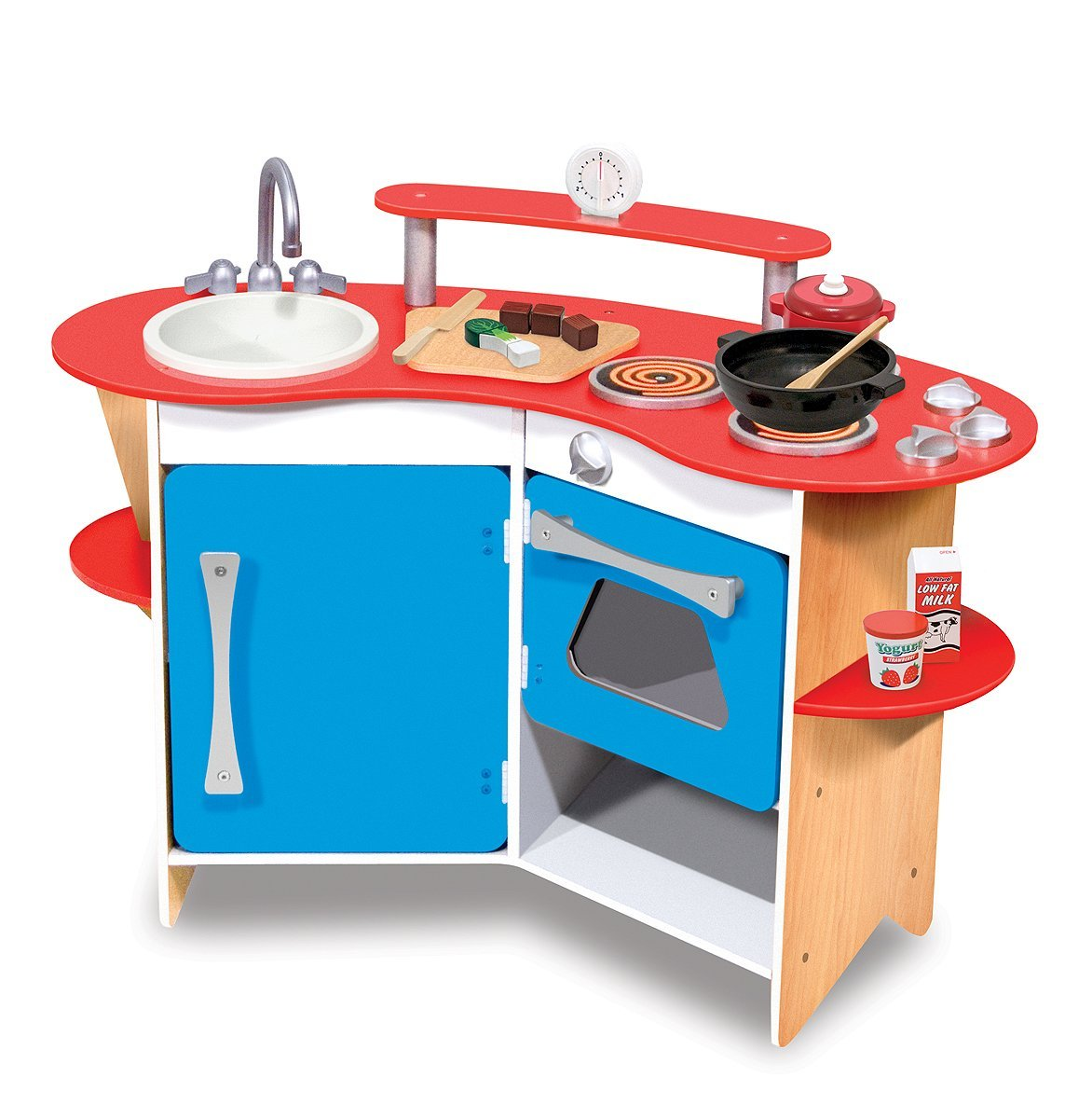 Blue Wooden Play Kitchen - Creepingthyme.info