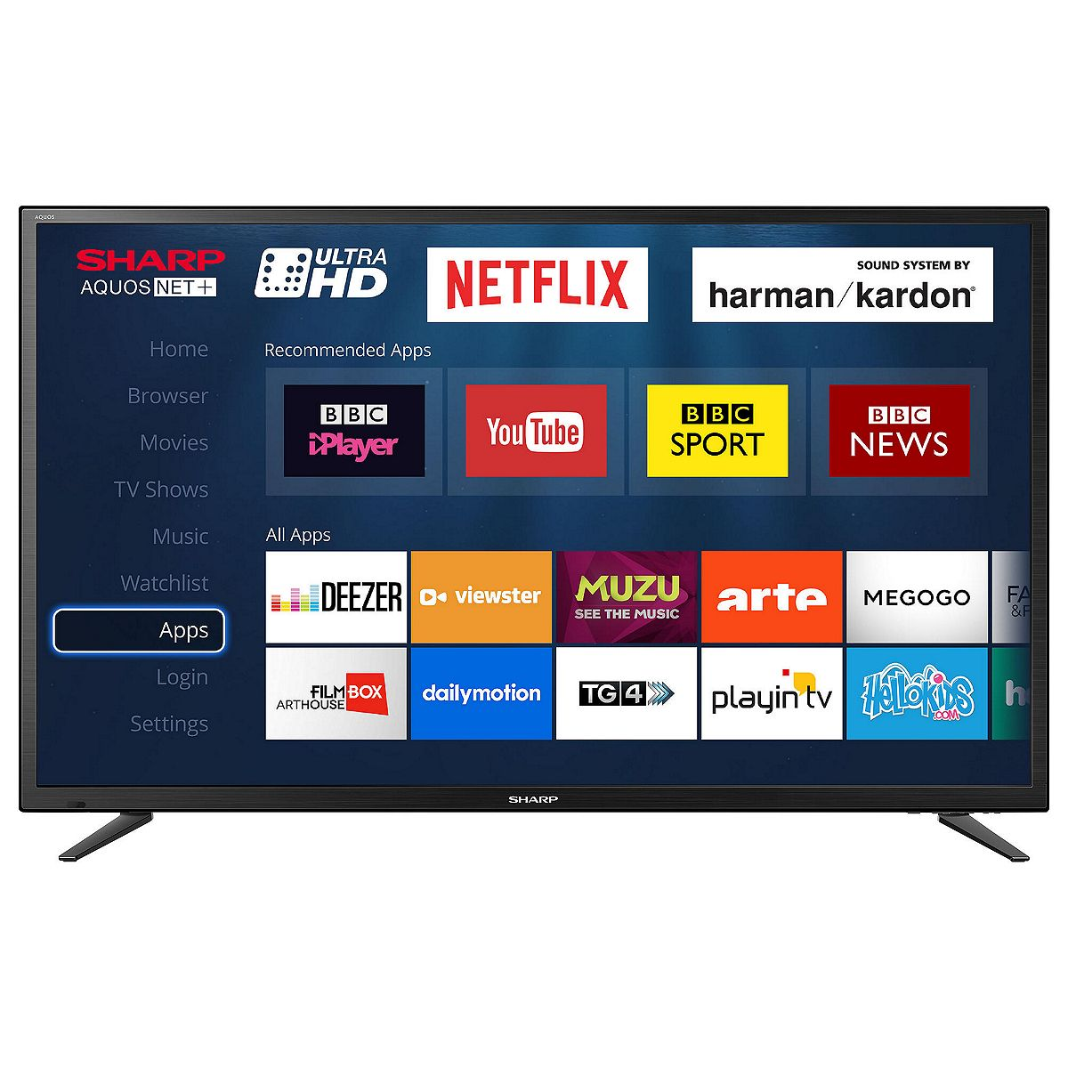 "Sharp LC-49CUG8052K 49"" Smart LED TV Ultra HD 4K With"