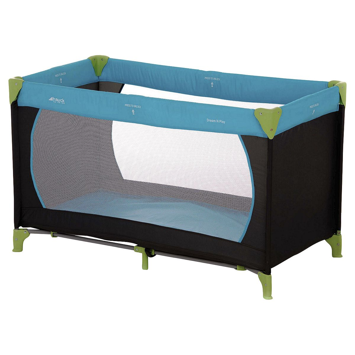 Travel Cot Mattress Tesco: Hauck Dream N Play Travel Cot Water Blue With 2 Mesh Sides