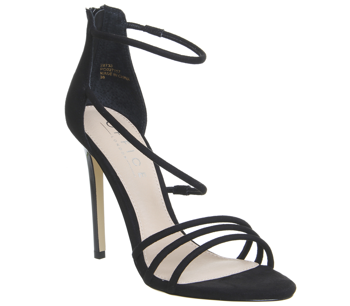 0ab9fb171 Womens-Office-Harness-Strappy-Sandals-Black-Heels thumbnail 3