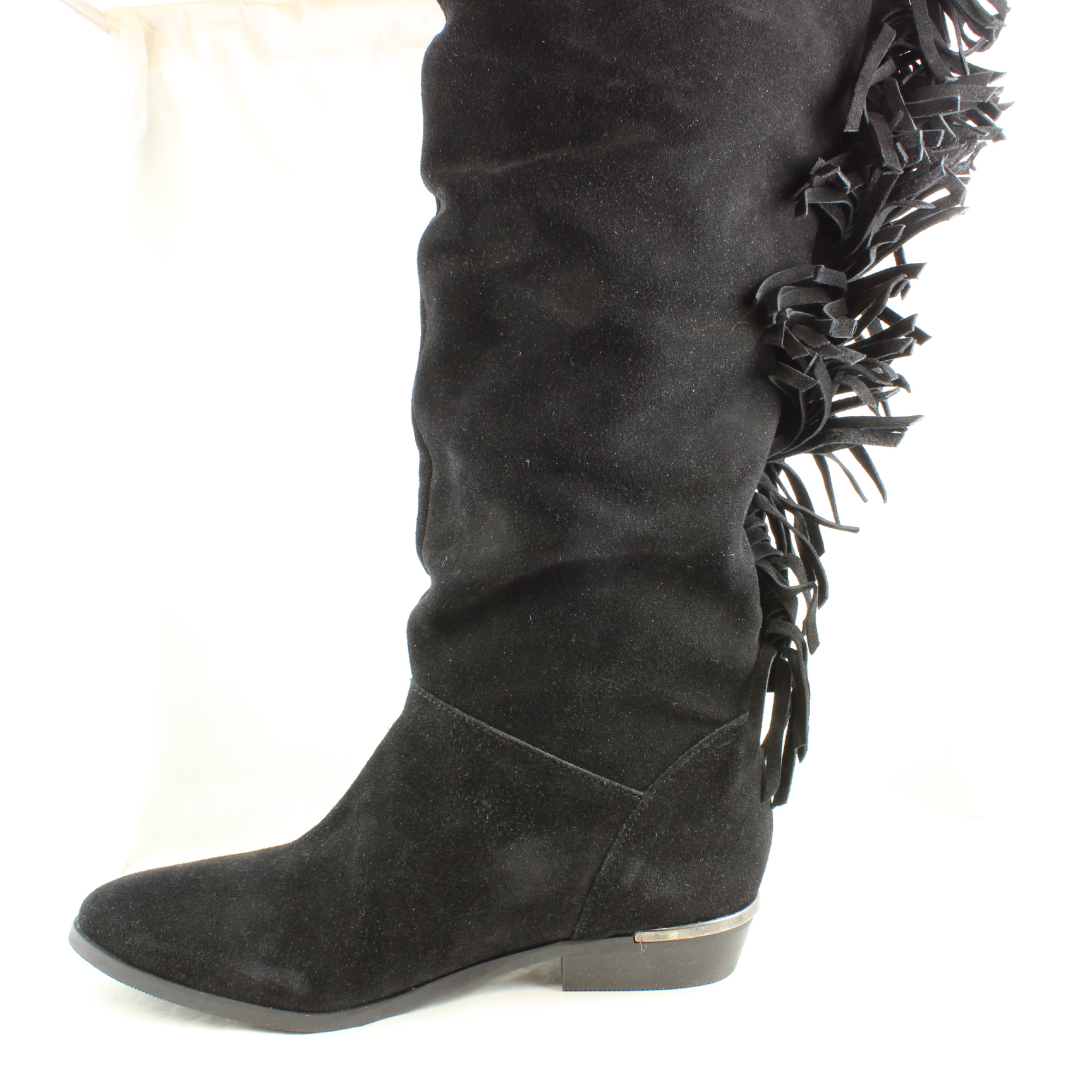 womens office nevada black suede knee high boots uk size 5