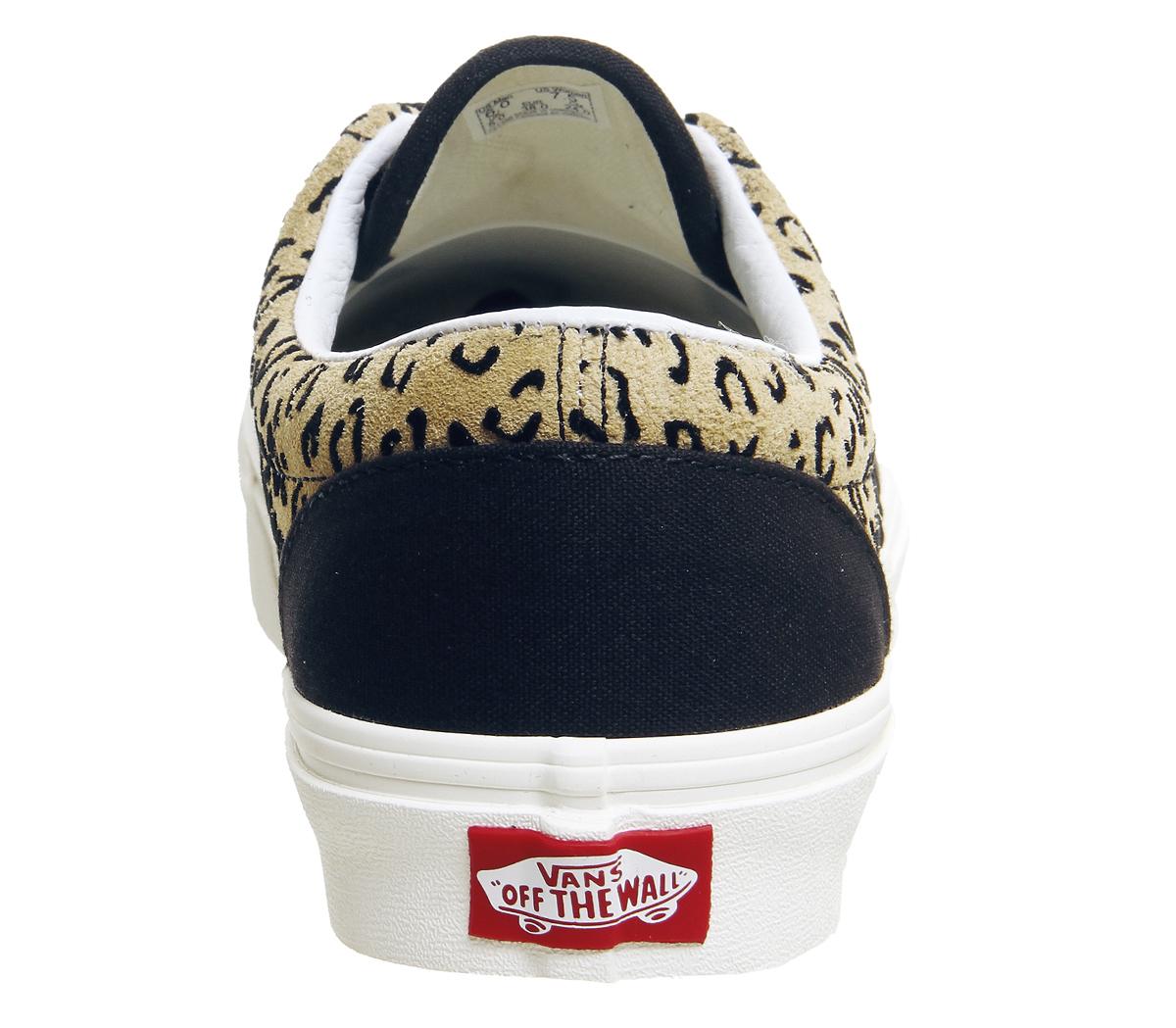 c97807e9a3 Mens Vans Era Trainers Leopard Black Taffy Marshmellow Exclusive ...