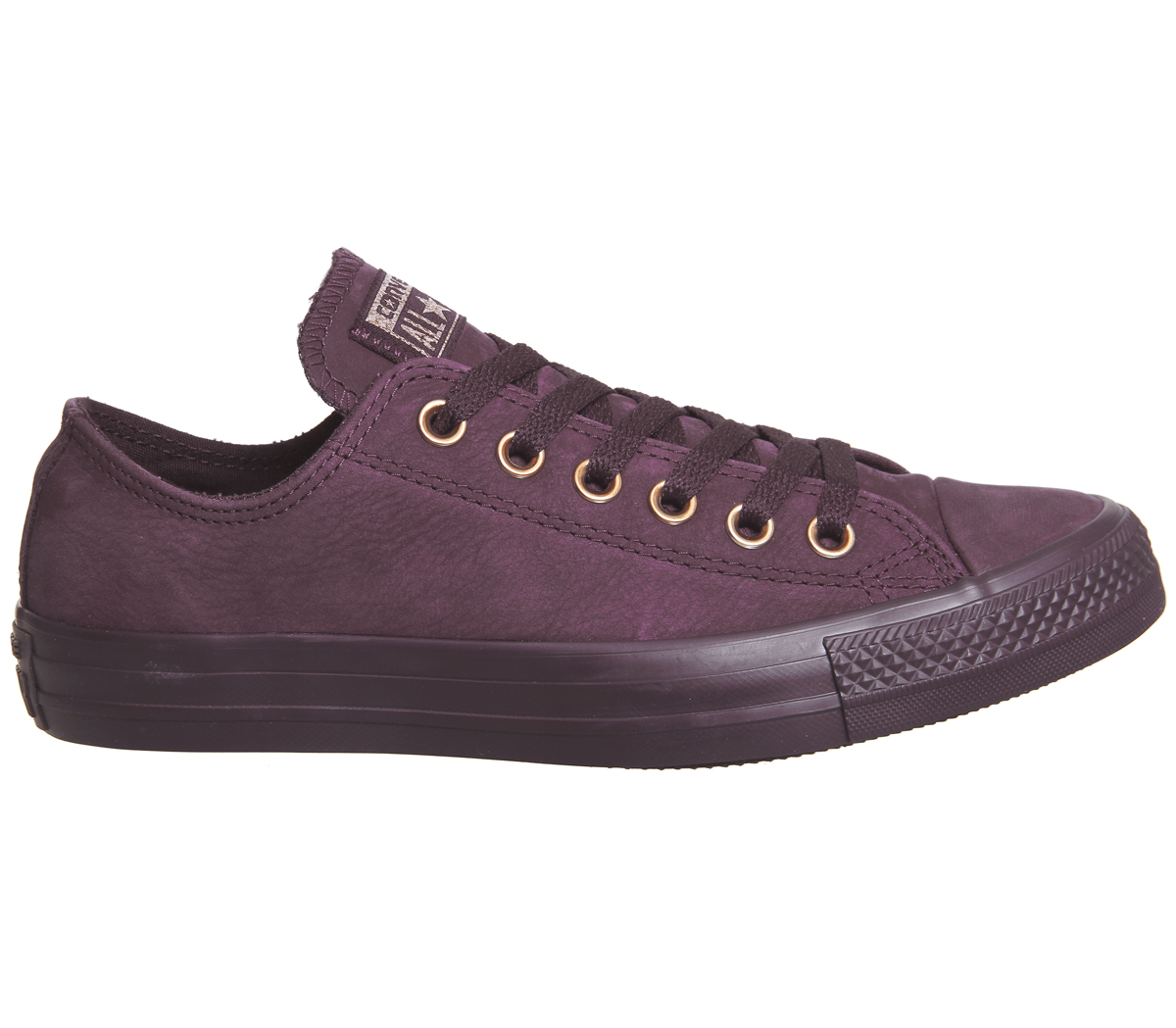 69ca77d57e4a Womens Converse All Star Low Leather DARK SANGRIA ROSE GOLD ...
