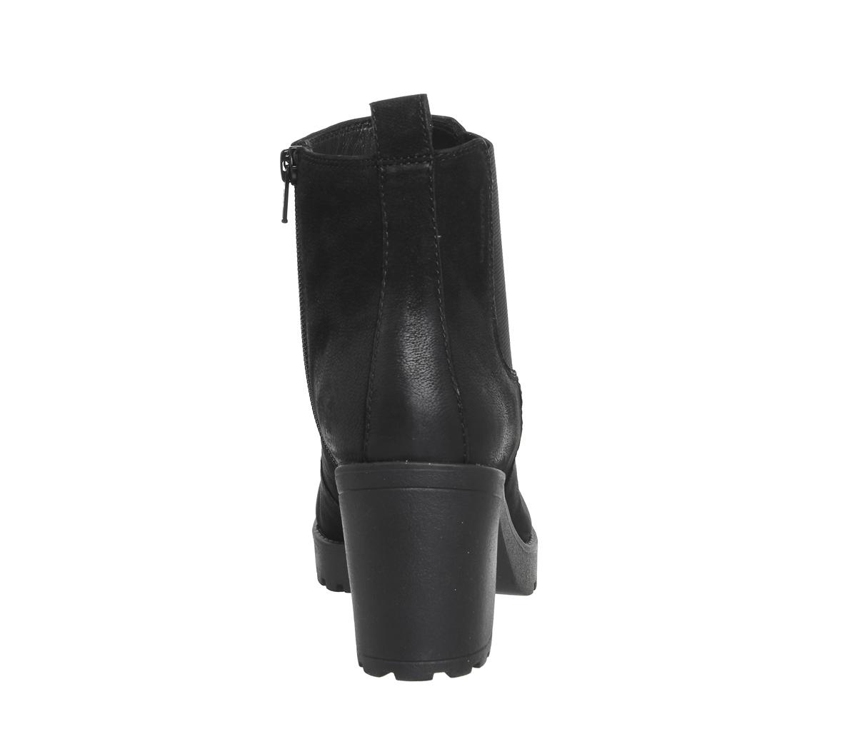 54e29c76e Womens Vagabond Grace Heeled Chelsea Boots Black Nubuck Boots | eBay