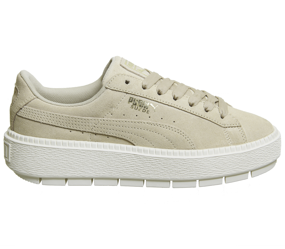 b3dcb7a83c Sentinel Womens Puma Suede Platform Trace Trainers SAFARI MARSHMALLOW  Trainers Shoes