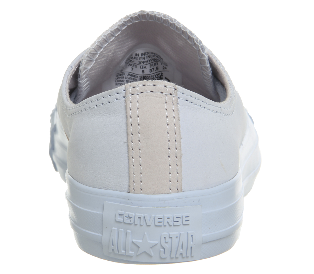 c4e1fb035185 Womens Converse All Star Low Leather Trainers Blue Tint Pale Quartz ...