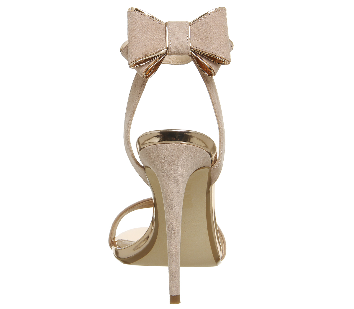 5a816f94ced Womens Office Helena Bow Back Heels NUDE ROSE GOLD Heels