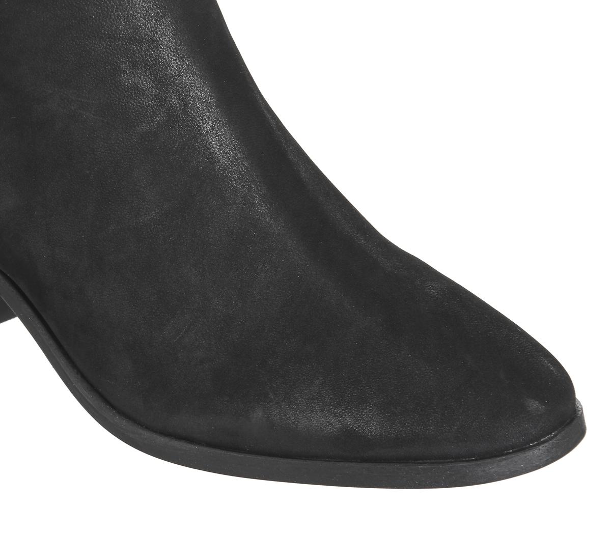 Damenschuhe BLACK Office Animate Chelsea Stiefel BLACK Damenschuhe NUBUCK Stiefel a7bc89