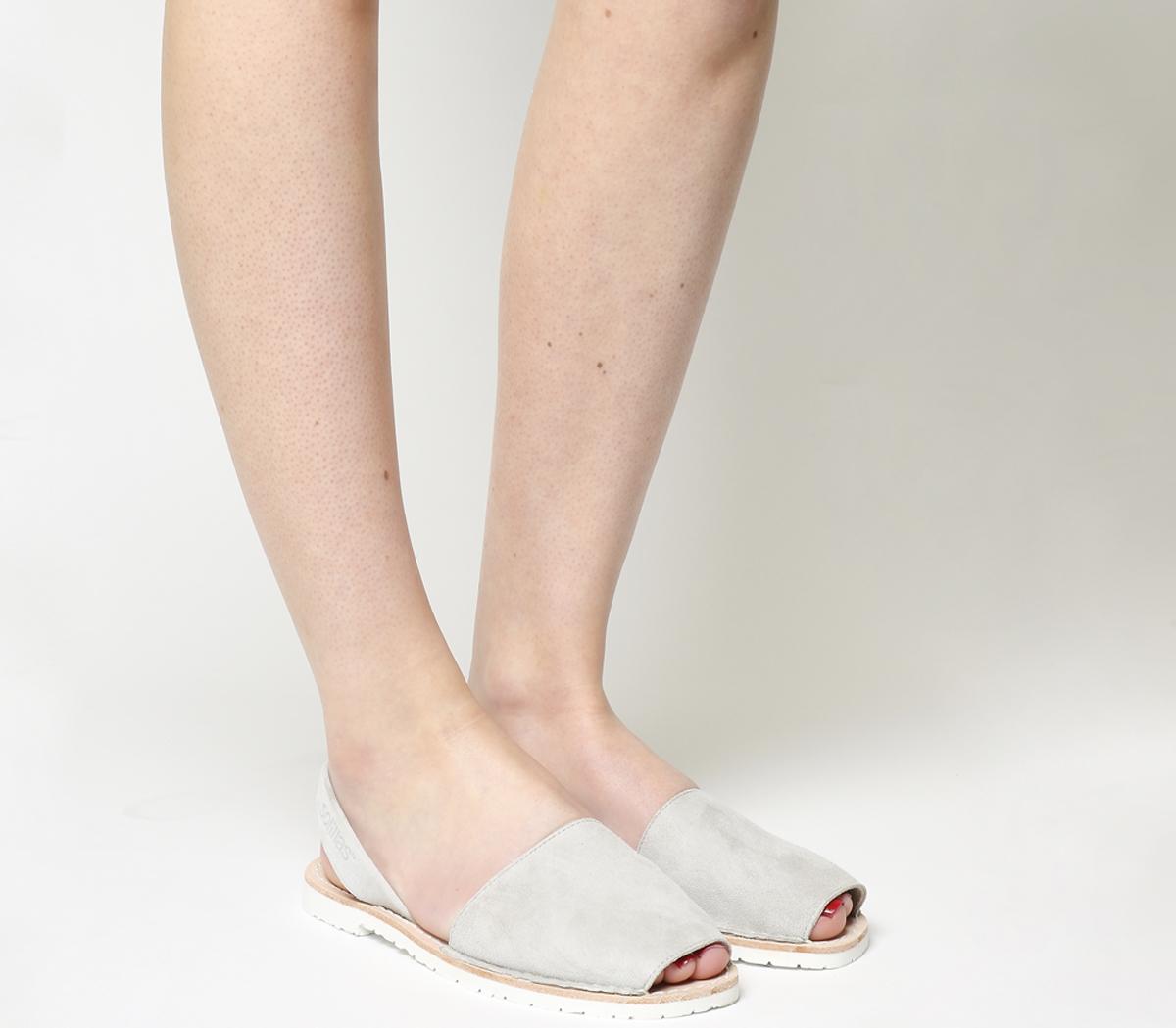 1da64241b47b Sentinel Womens Solillas Solillas Sandals LIGHT GREY SUEDE Sandals