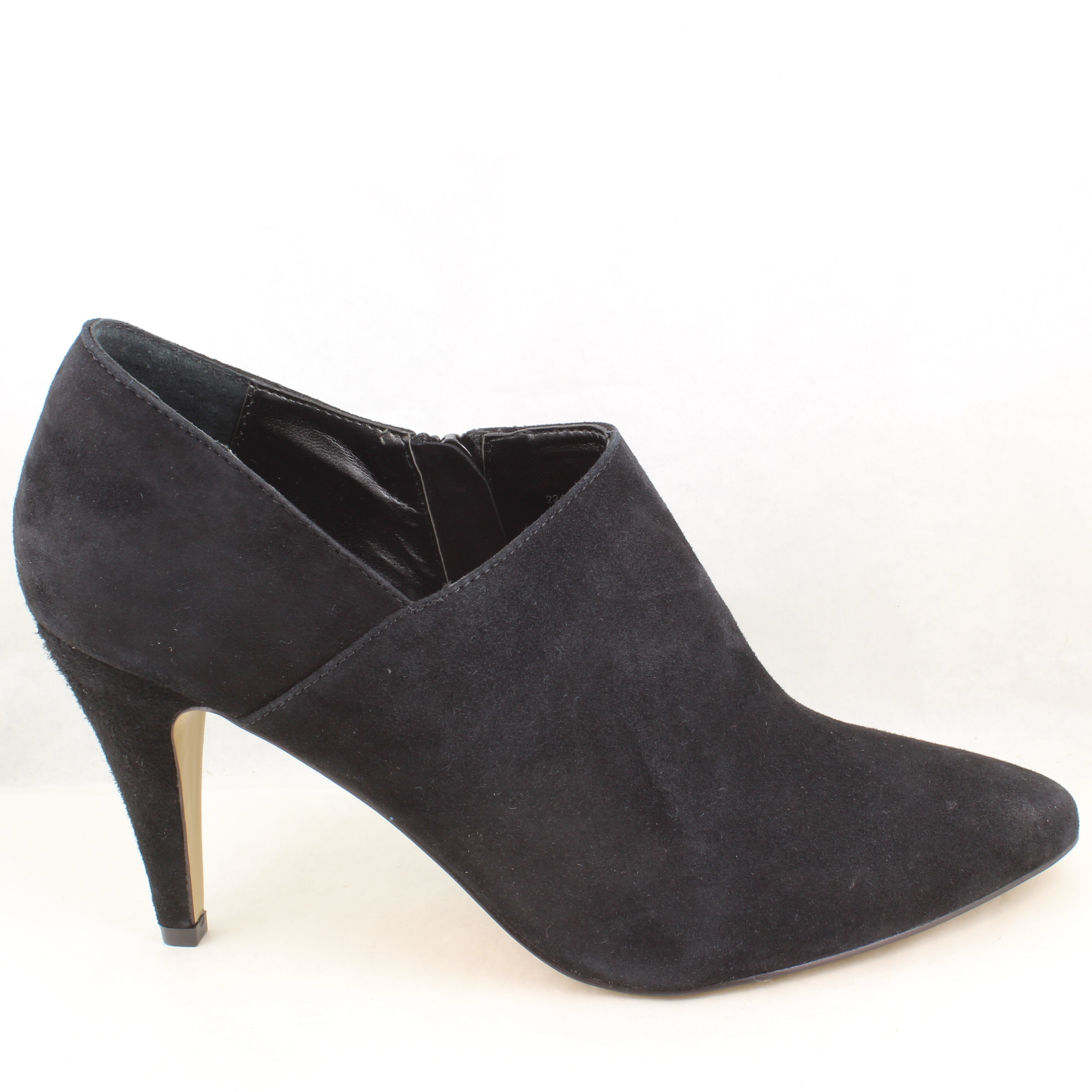 womens office black suede ankle boots uk size 7 ex