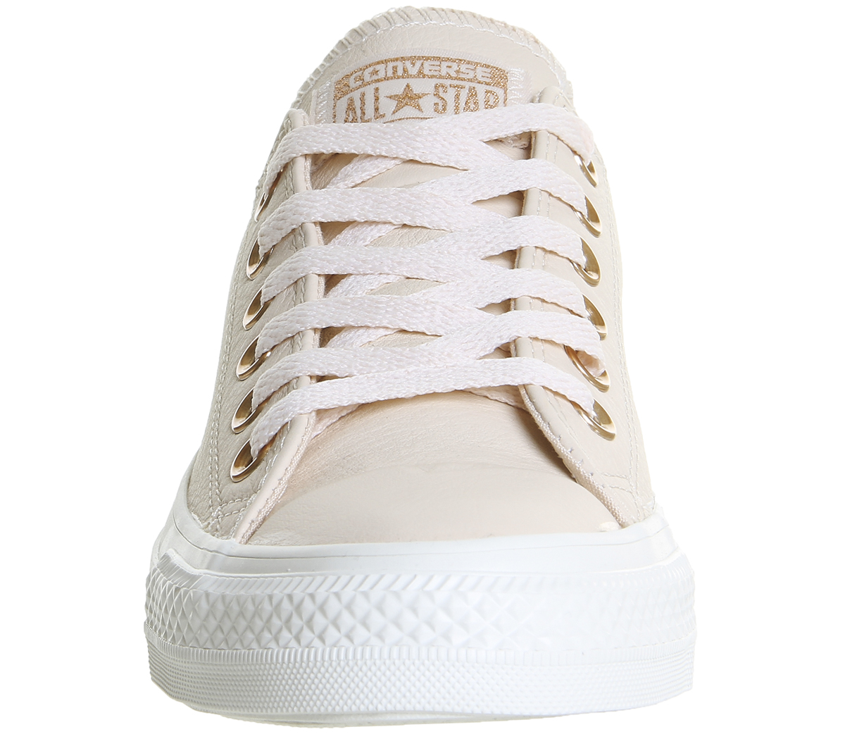 Sentinel Womens Converse All Star Low Leather EGRET PASTEL ROSE TAN BLUSH GOLD  EXCLUSIVE 27fd55fbf