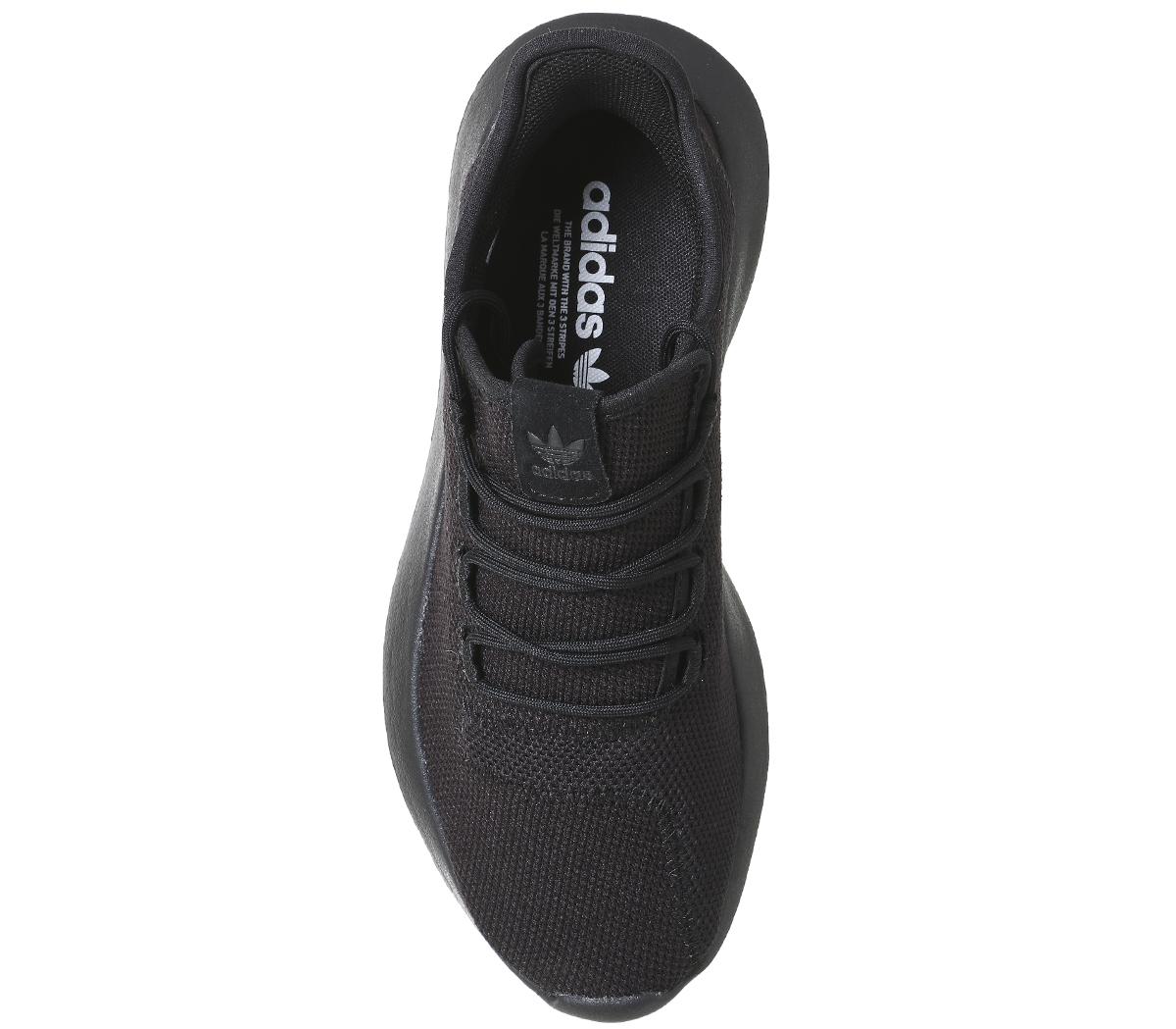 Sentinel Adidas Tubular Shadow BLACK MONO Trainers Shoes cba129495