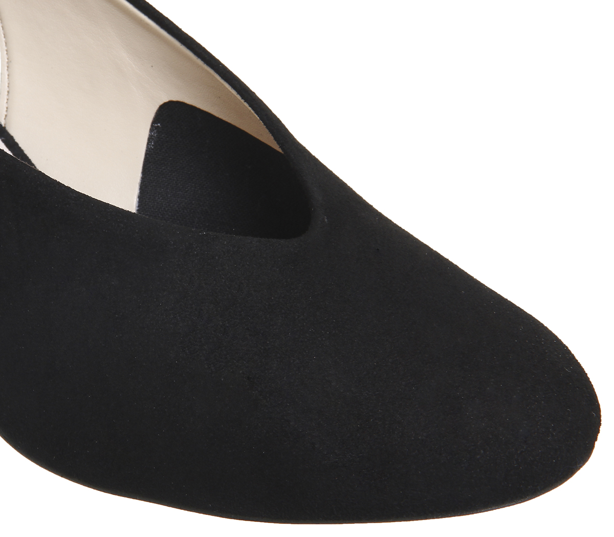 Womens-Office-Magical-Bow-Slingback-Heels-Black-Suede-Heels thumbnail 11