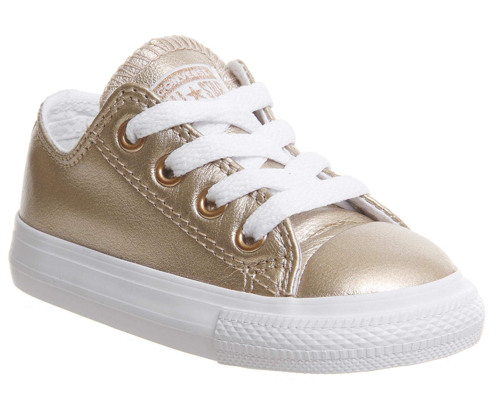 d5aafbb4ced4 Sentinel Kids Converse All Star Ox Leather Infant Rose Gold Metallic  Exclusive Kids