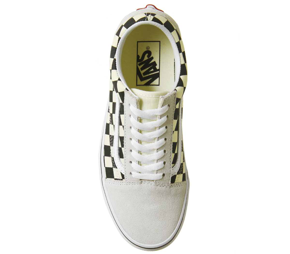 Mens Vans Old Skool Trainers BLACK WEISS CHECKERBOARD Trainers Schuhes