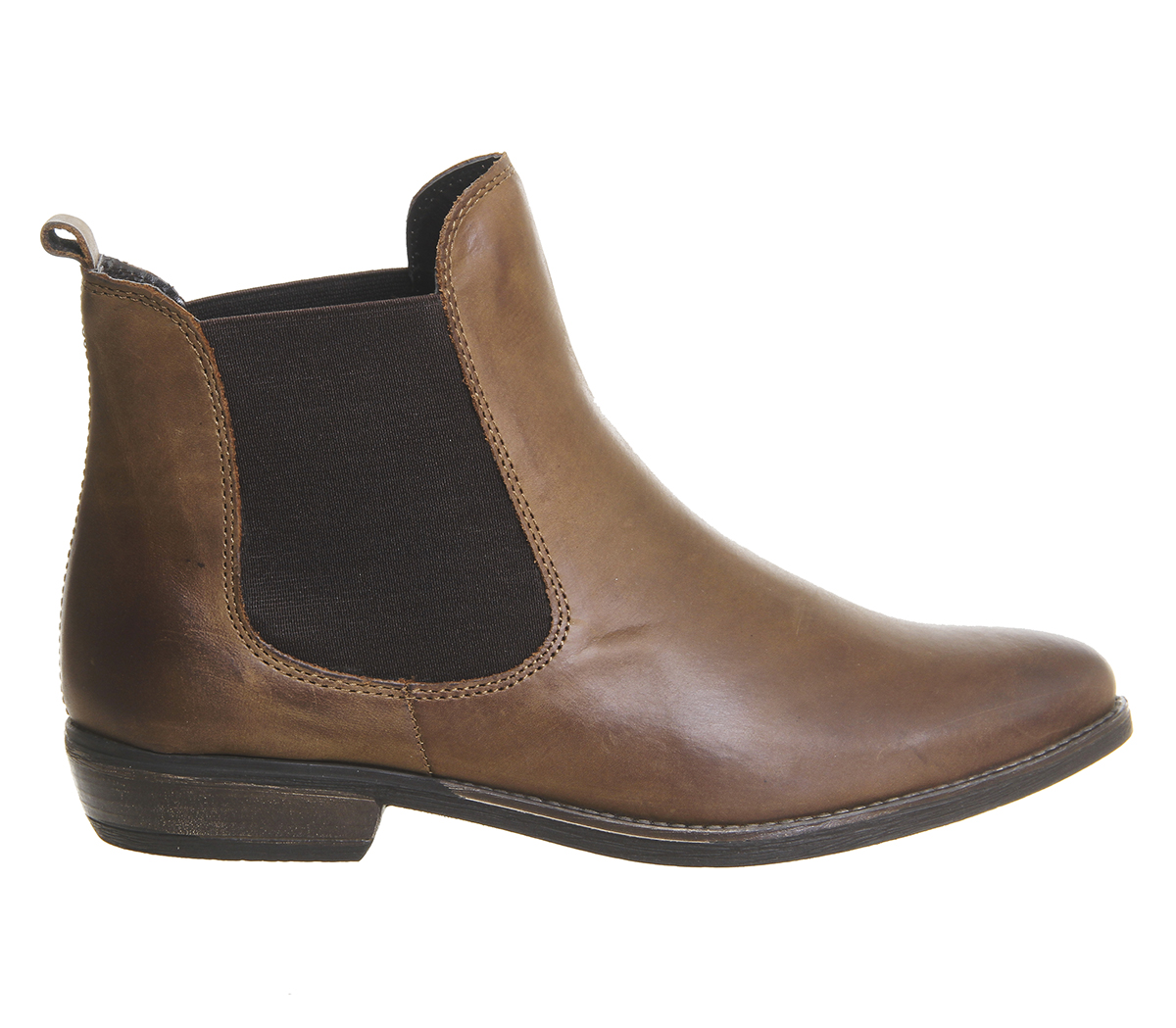 b5f807f22bbfe Womens Office Dallas 2 Chelsea Boots BROWN LEATHER Boots