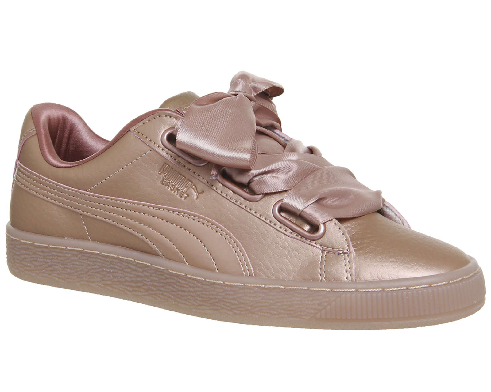 a4ccafc74e2866 Sentinel Womens Puma Basket Heart Trainers ROSE COPPER METALLIC Trainers  Shoes