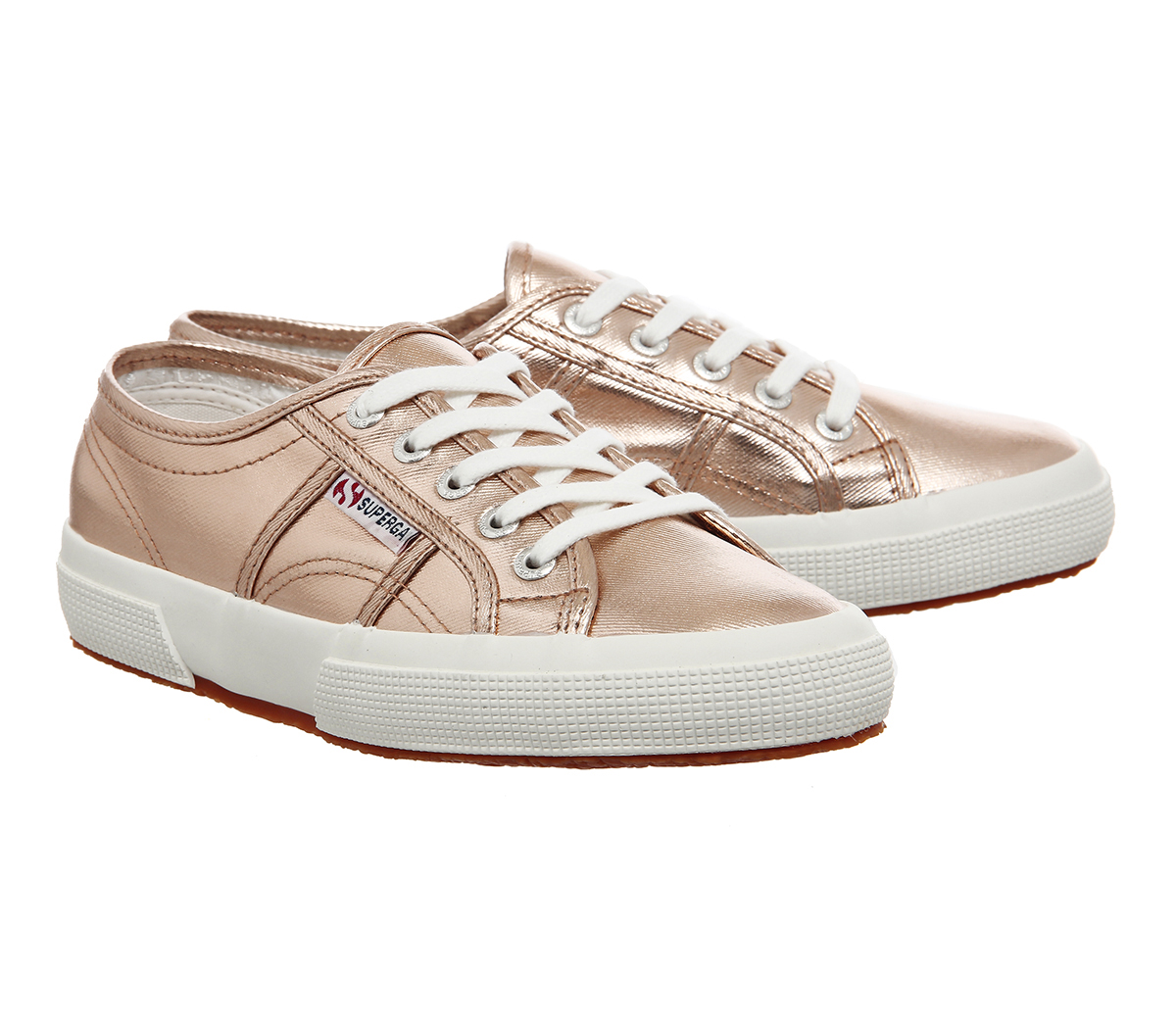 Sentinel Womens Superga 2750 Trainers ROSE GOLD COMETU Trainers Shoes 965567a80d