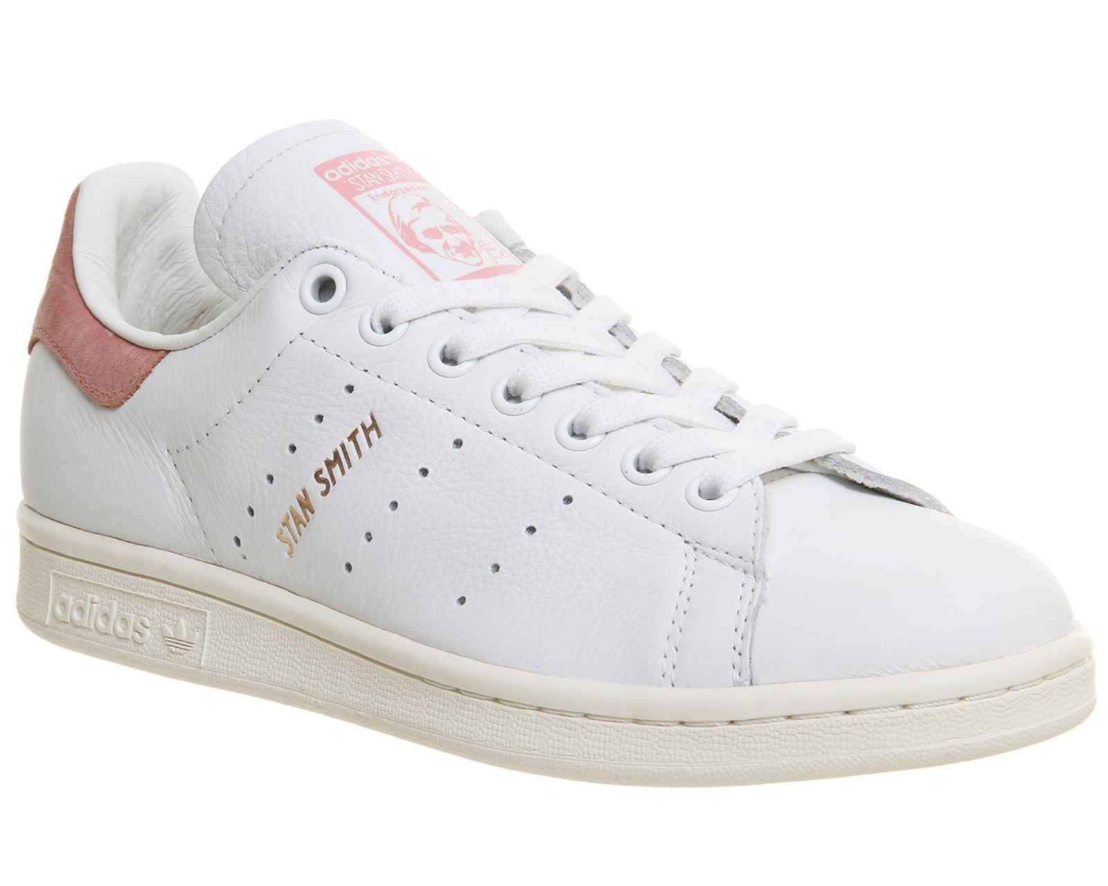 womens adidas stan smith white ray pink rose gold. Black Bedroom Furniture Sets. Home Design Ideas