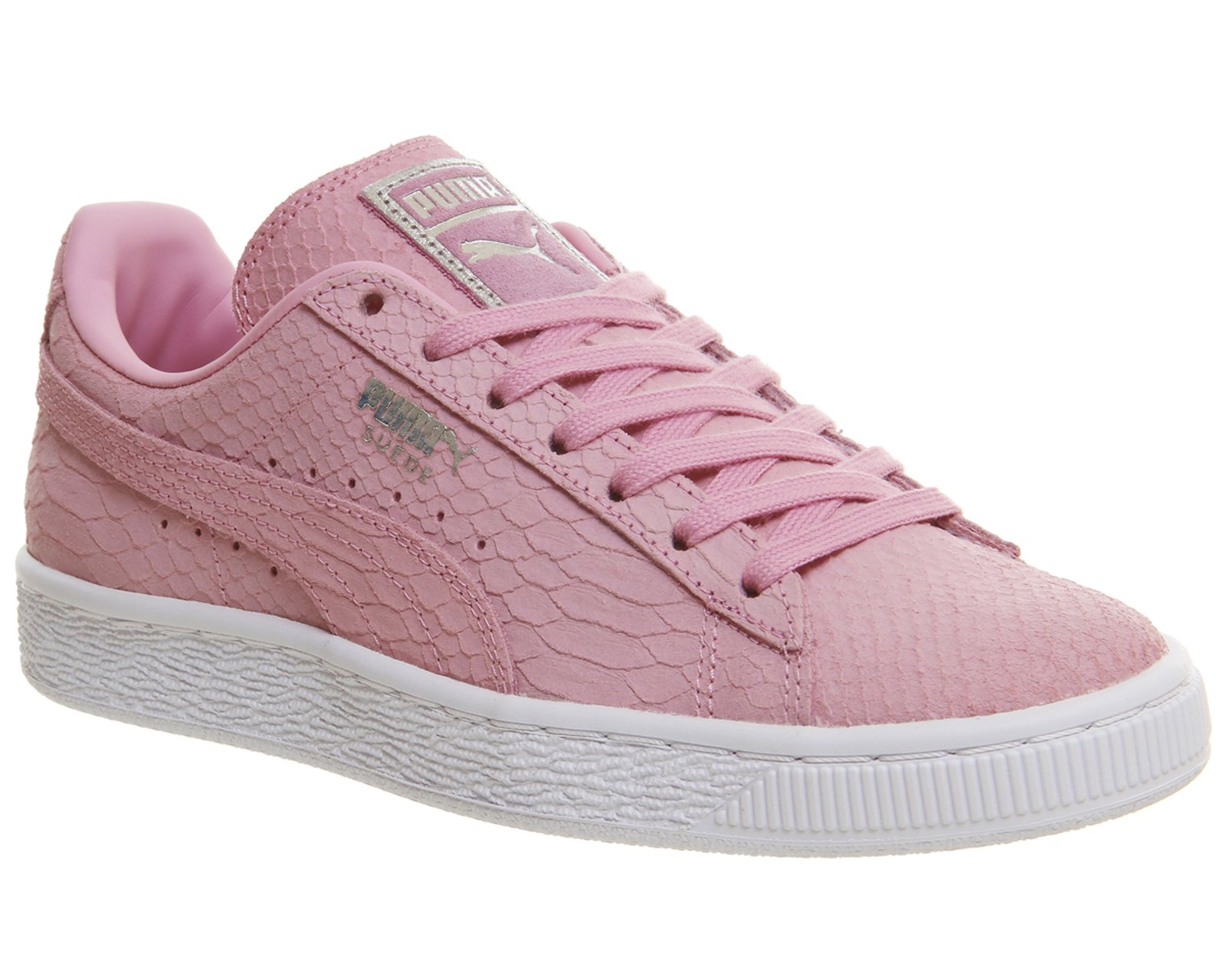 05c9659165b60 Sentinel Womens Puma Suede Classic Prism Pink White Exotic Trainers Shoes