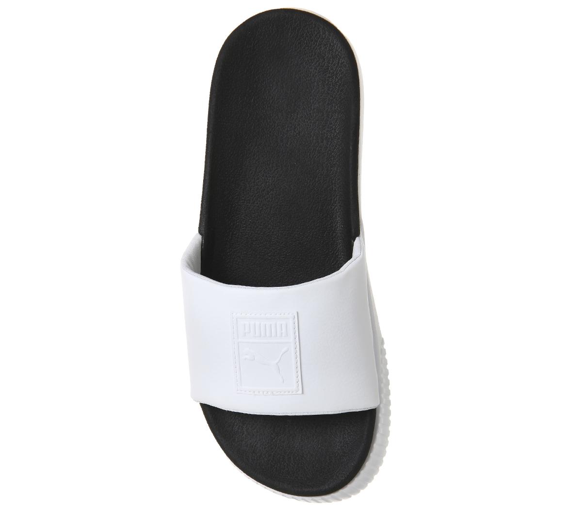 86e1b09845599 SENTINEL Puma Womens piattaforma diapositive PUMA PUMA bianco nero sandali