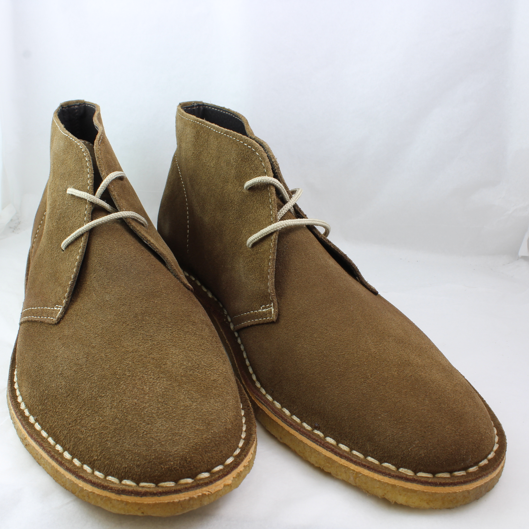 mens ask the missus beige suede lace up ankle boots uk
