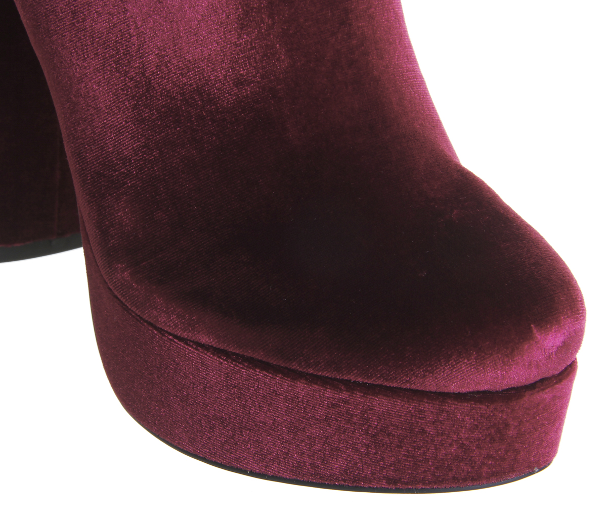 Velvet Mega Wine Abbey Platform Boots Womens Office Road wnH0H