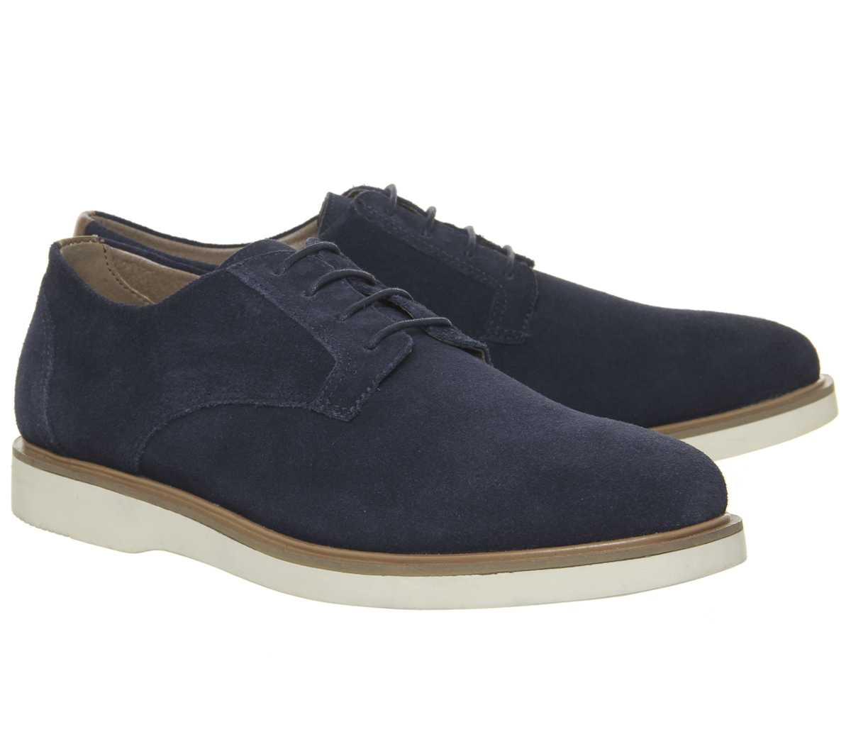 Mens-Office-Item-Derby-Shoes-Navy-Suede-Casual-Shoes thumbnail 13