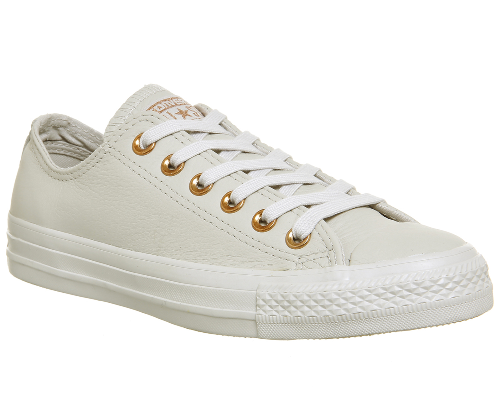3bc0acb08 Sentinel Womens Converse All Star Low Leather Pale Putty Rose Gold Trainers  Shoes