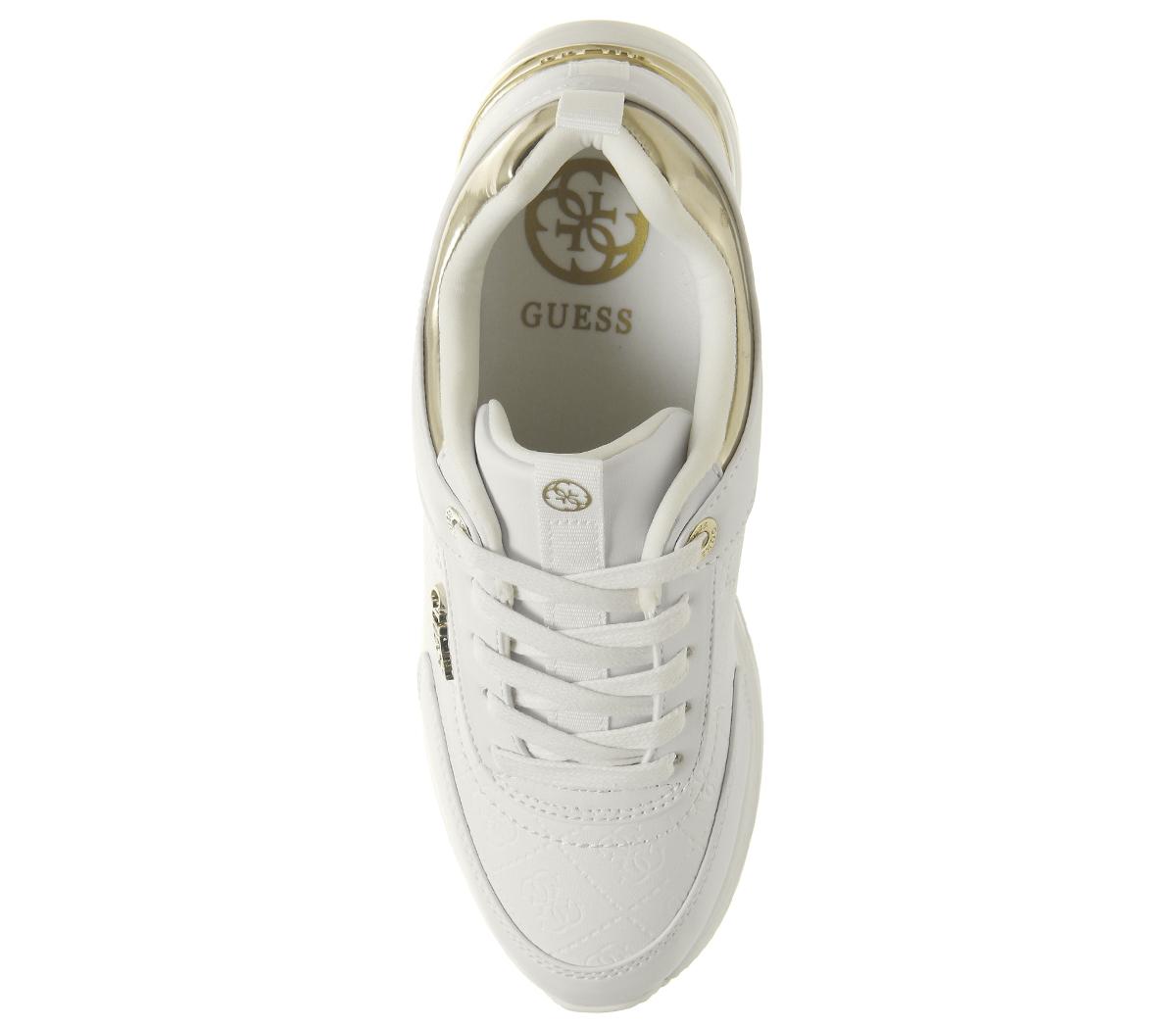 21d5a99f38f7df Da Donna Guess Marlyn Scarpe da ginnastica White Gold Scarpe Basse ...