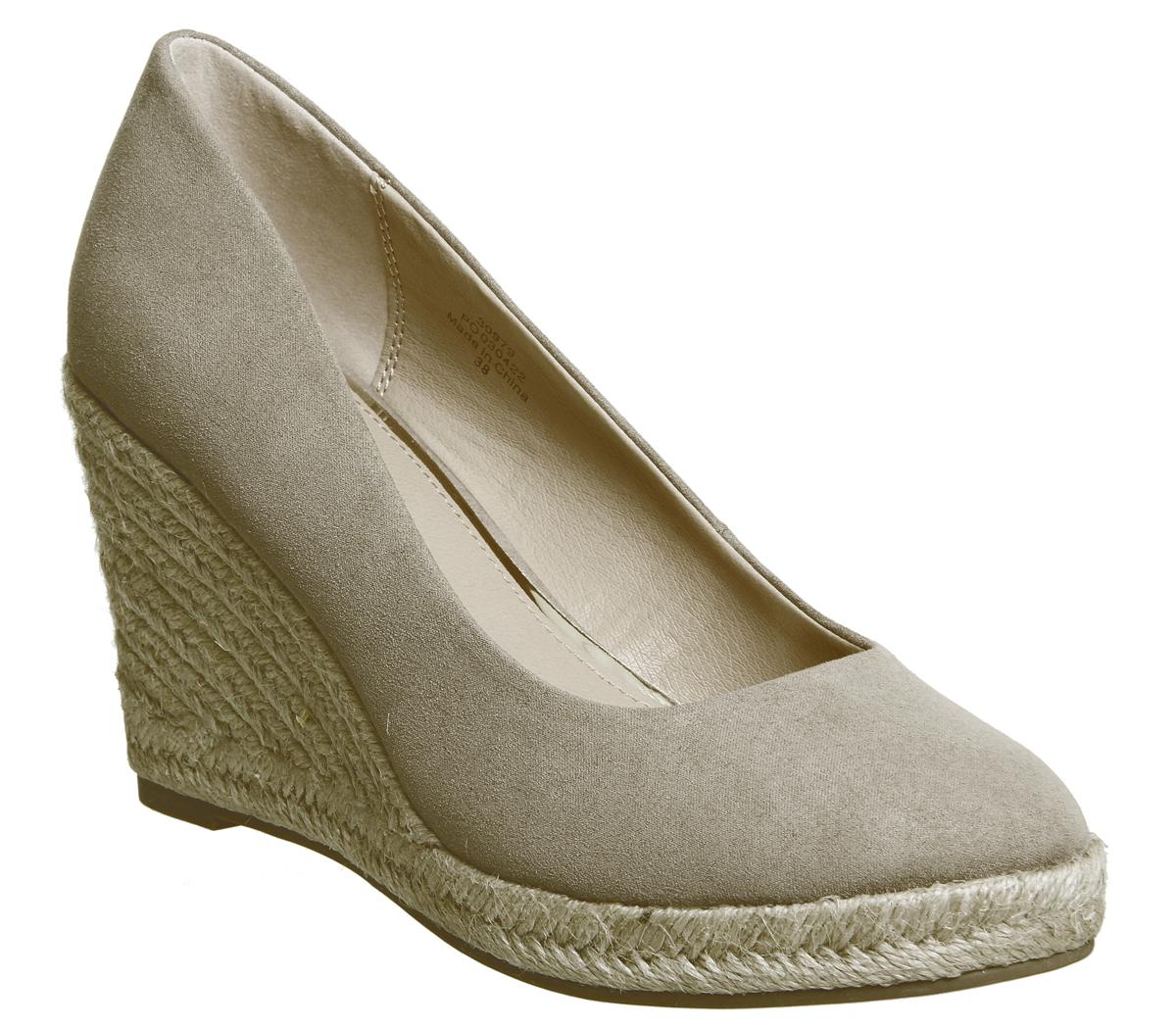 c1b34c202058 Sentinel Womens Office Marbella Closed Toe Espadrilles Taupe Heels