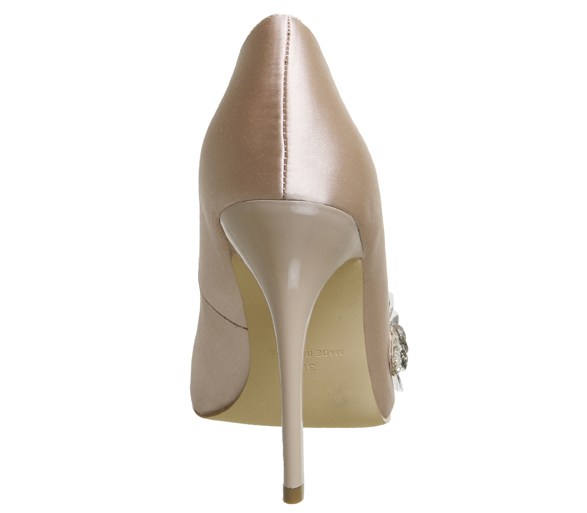 Nude Satin Court Heels Office Womens Detail Hot Stuff Trim nxZYwnX0q
