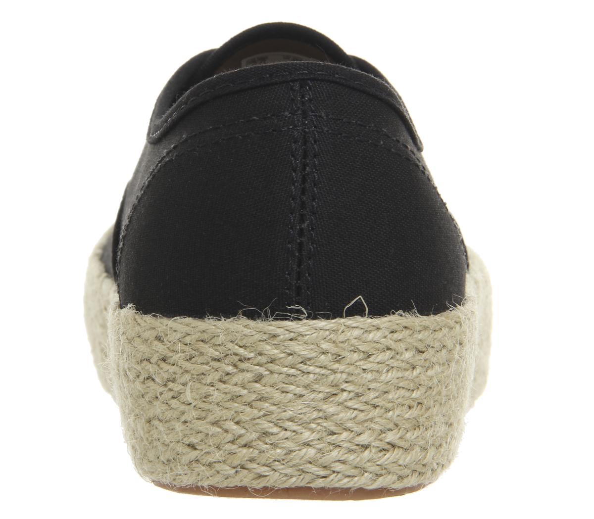 Womens Vans Authentic Platform Espadrilles Shoes BLACK Trainers Shoes Espadrilles c8b981