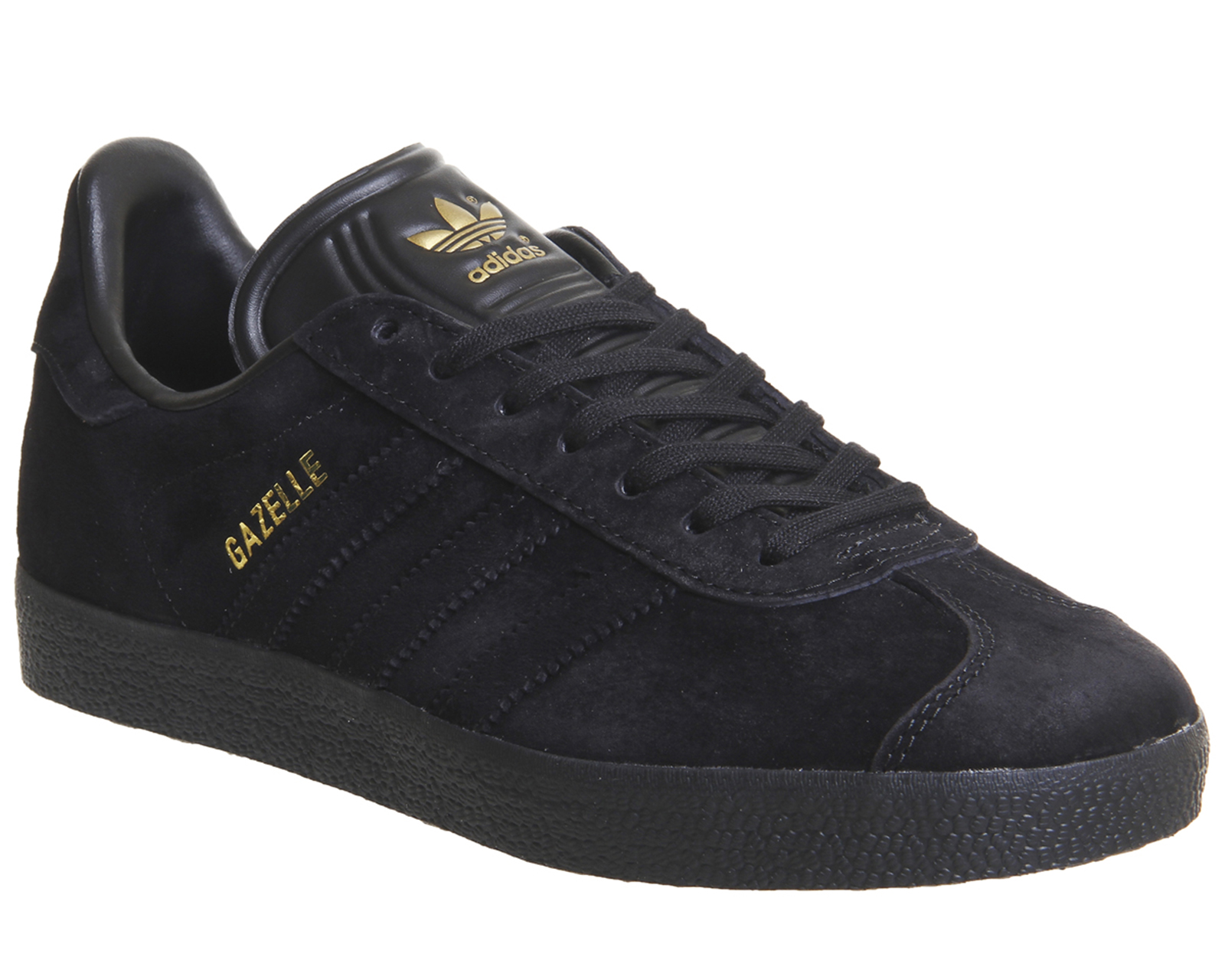 c96b5787 Sentinel Adidas Gazelle Trainers BLACK GOLD EXCLUSIVE Trainers Shoes