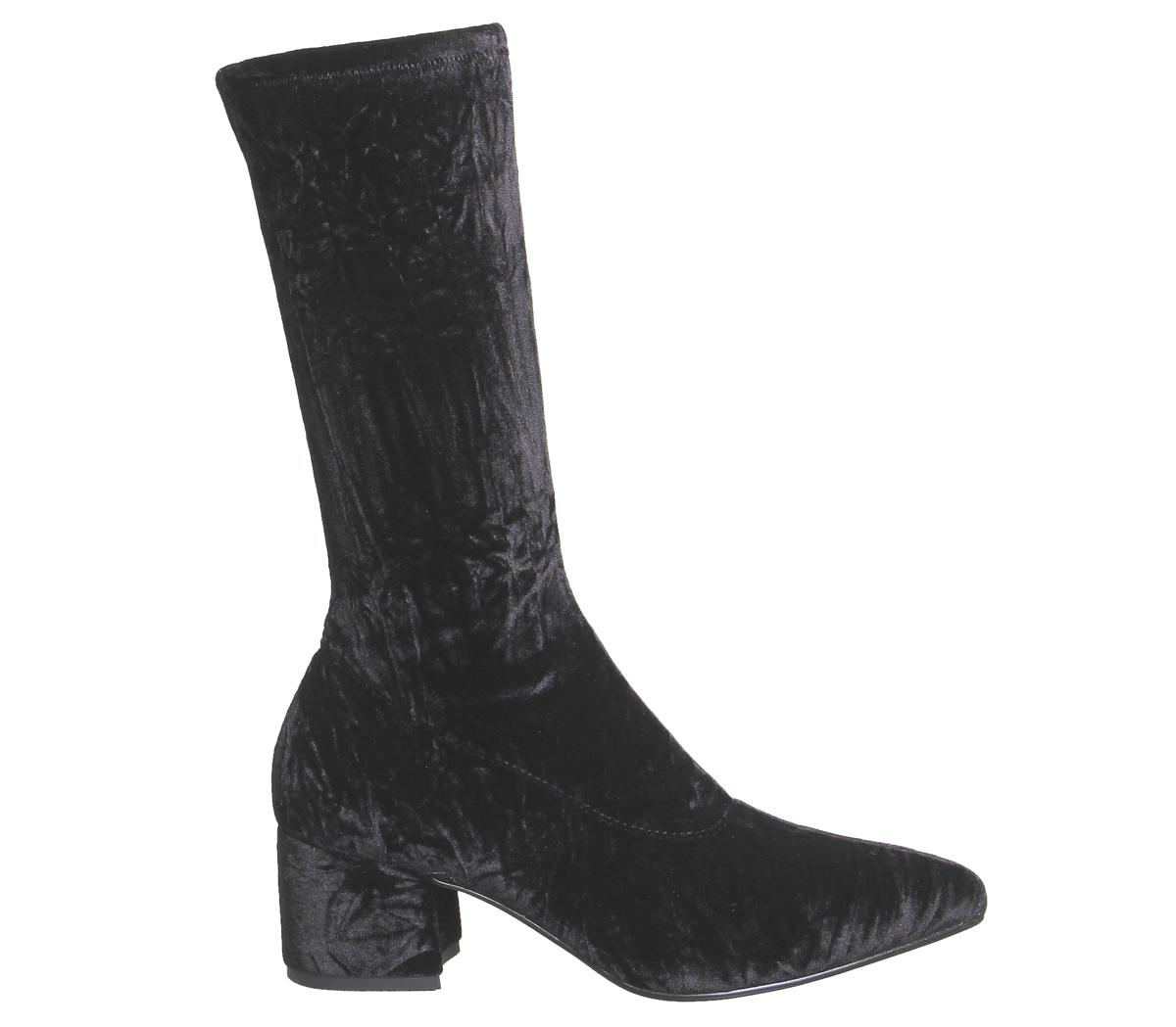 Womens Vagabond Mya Tall Boots BLBCK VELVET Boots