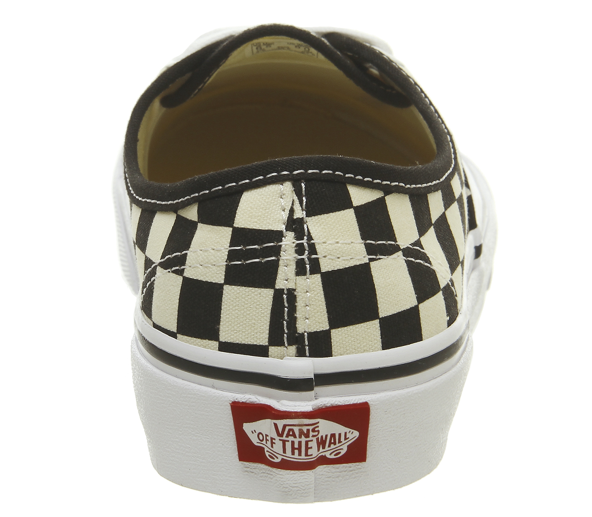 ade03a52f477b7 Sentinel Vans Authentic Trainers Black White Checker Golden Coast Trainers  Shoes