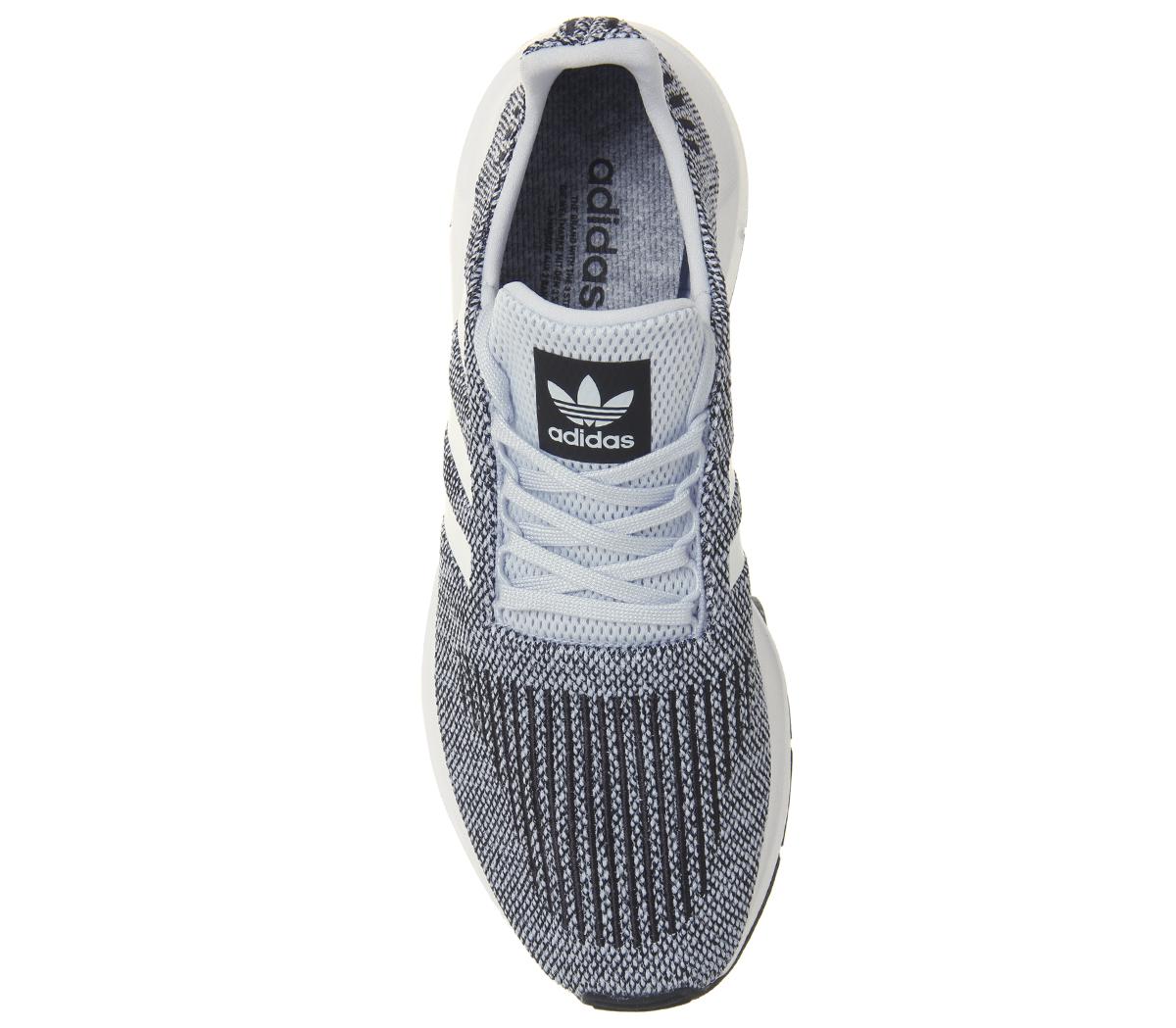 Mens Adidas Swift WHITE Run Trainers AERO BLUE WHITE Swift Trainers Shoes b80d95