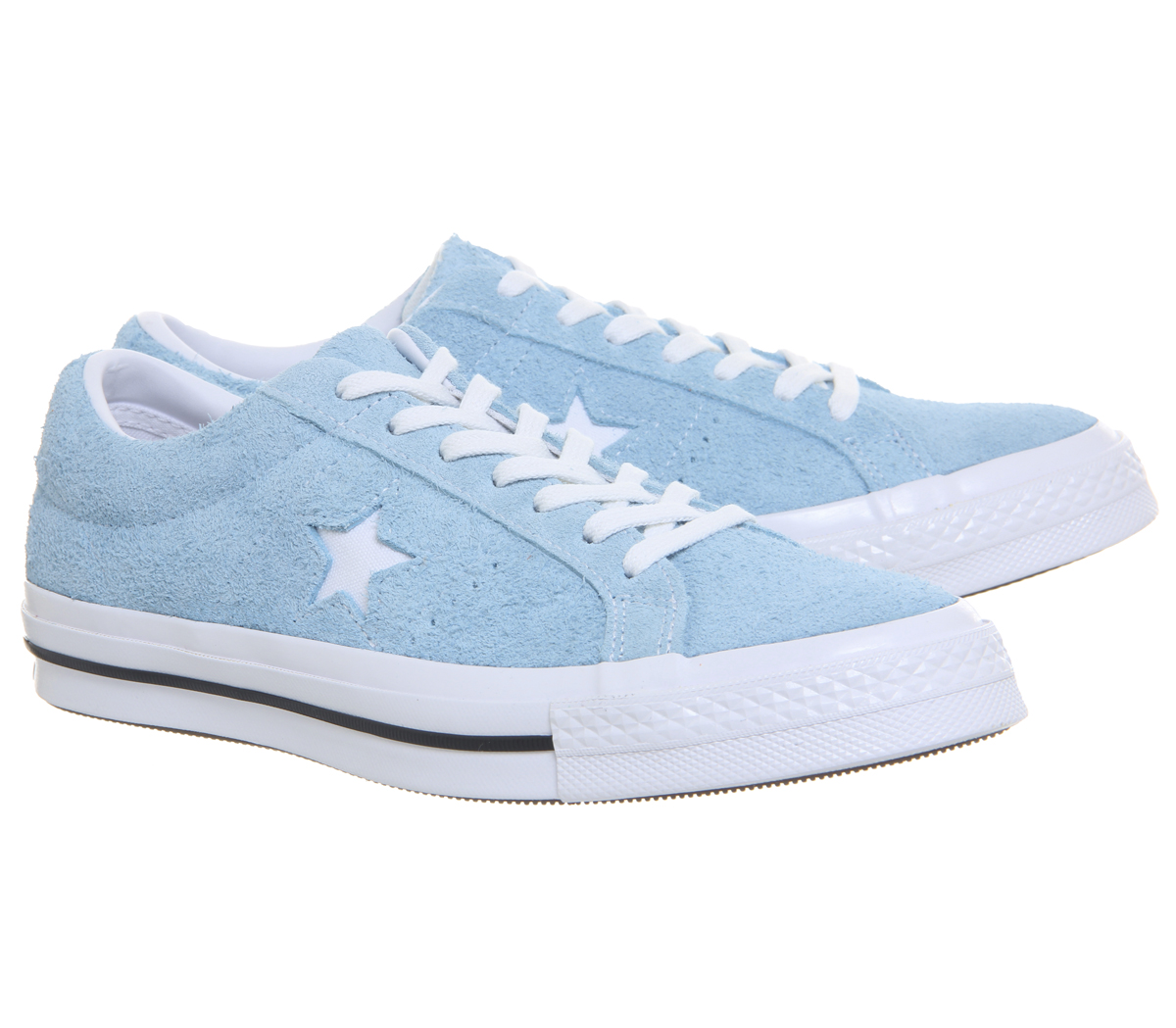 b6d55472b31c Womens Converse One Star Trainers Shoreline Blue White Trainers ...