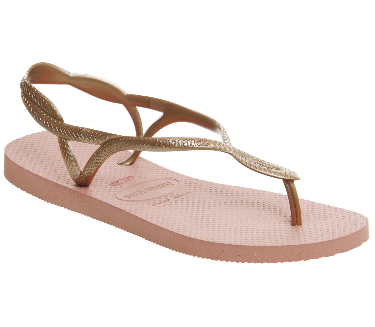 082b966ff Sentinel Womens Havaianas Luna Flip Flops LIGHT ROSE Sandals