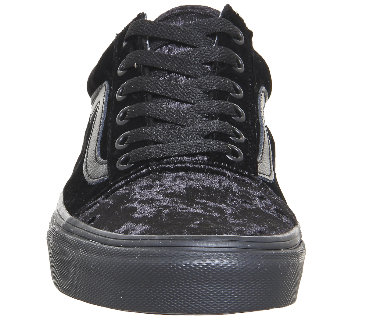 4bb789cdd56cd4 Sentinel Womens Vans Old Skool Trainers VELVET BLACK BLACK Trainers Shoes