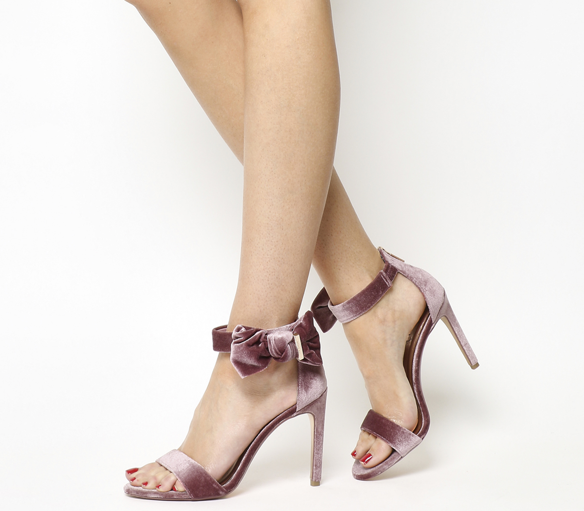 Image is loading Womens-Ted-Baker-Torabel-Bow-Heels-MINK-VELVET-