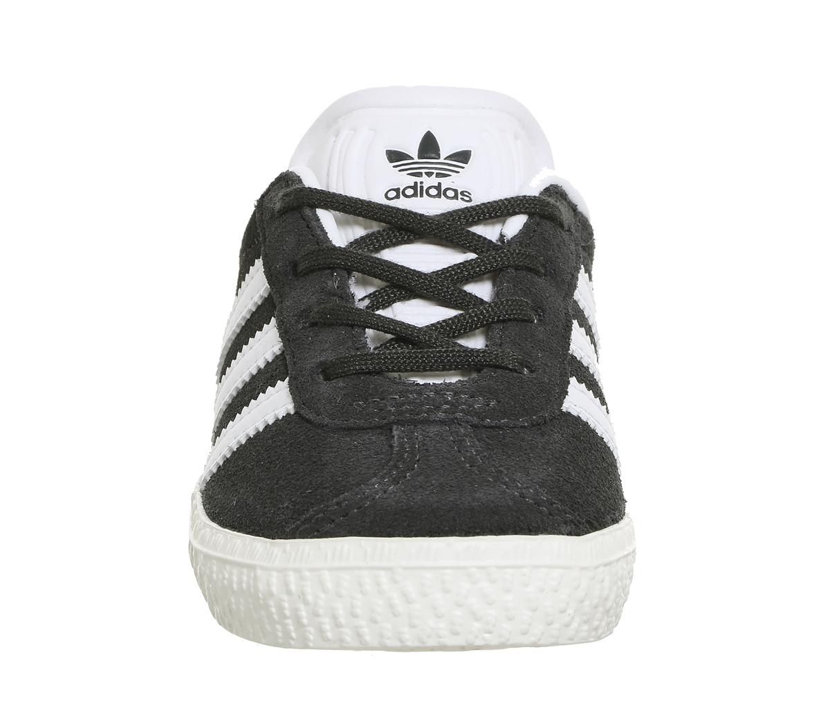 298c8d46436d4 Kids Adidas Gazelle 2 Infant Dark Solid Grey White Kids