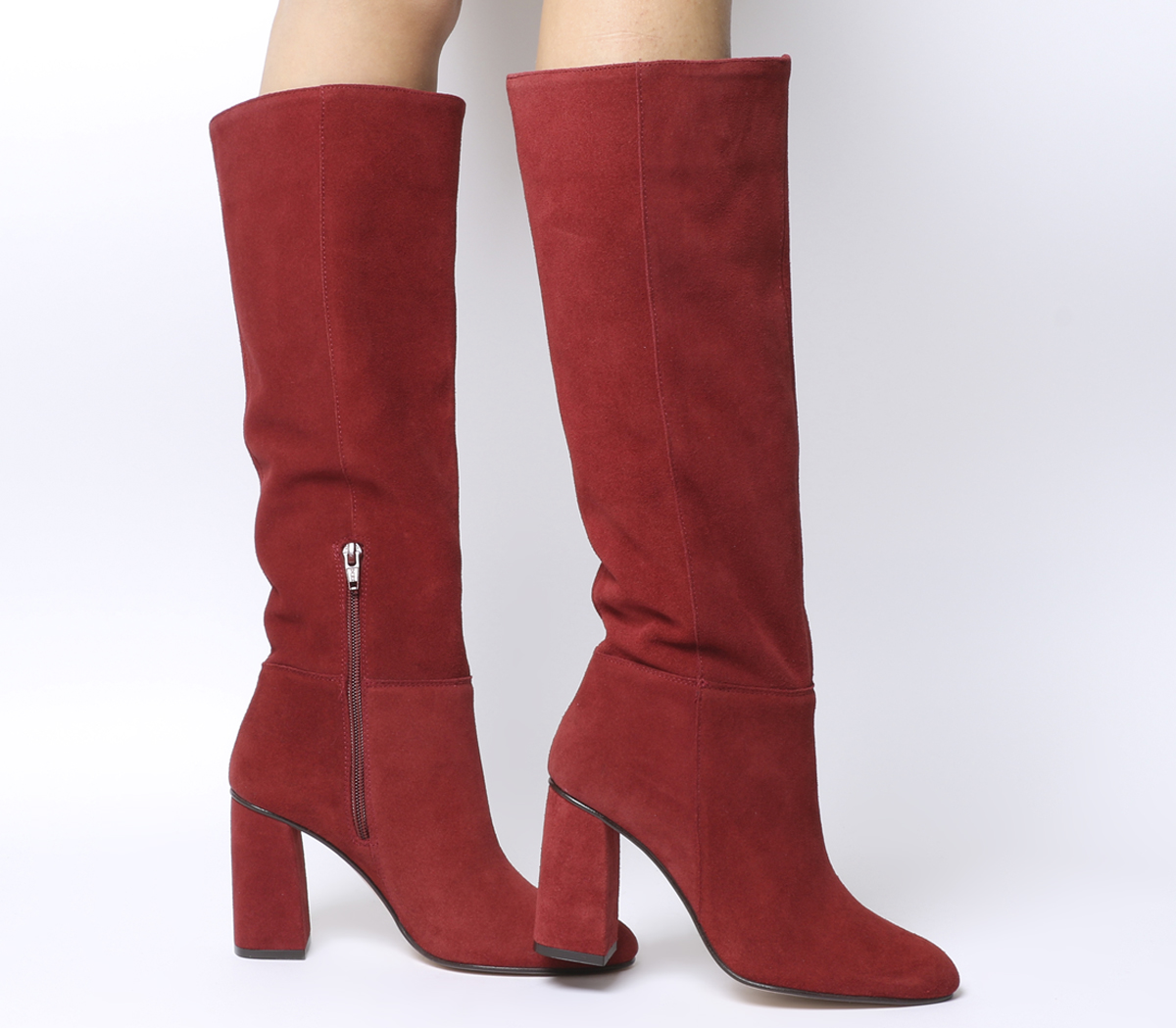 a171aa1ab4ea Red Suede Block Heel Boots - Best Picture Of Boot Imageco.Org