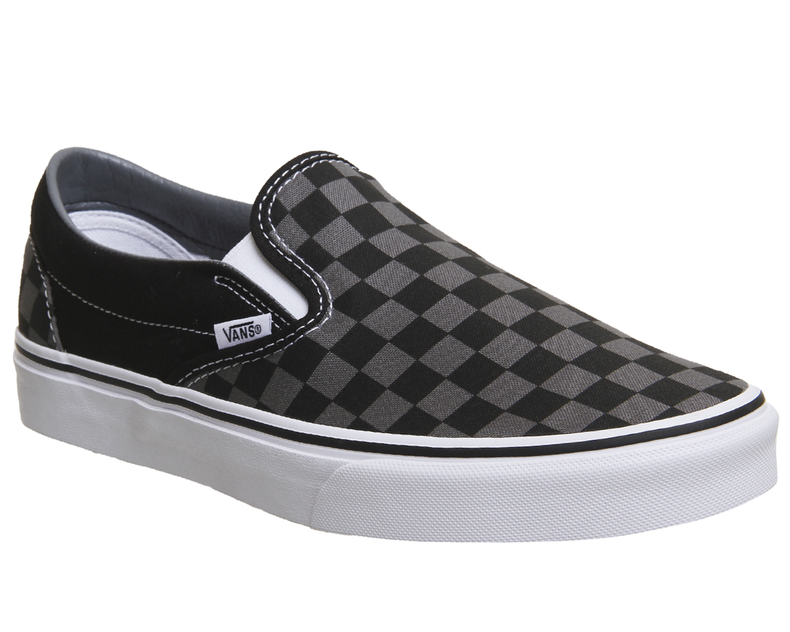 dd4970646f Sentinel Mens Vans Vans Classic Slip On Trainers Black Pewter Check  Trainers Shoes