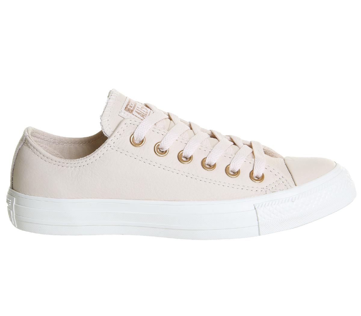 8348b76341dc Sentinel Womens Converse All Star Low Leather EGRET PASTEL ROSE TAN BLUSH  GOLD EXCLUSIVE