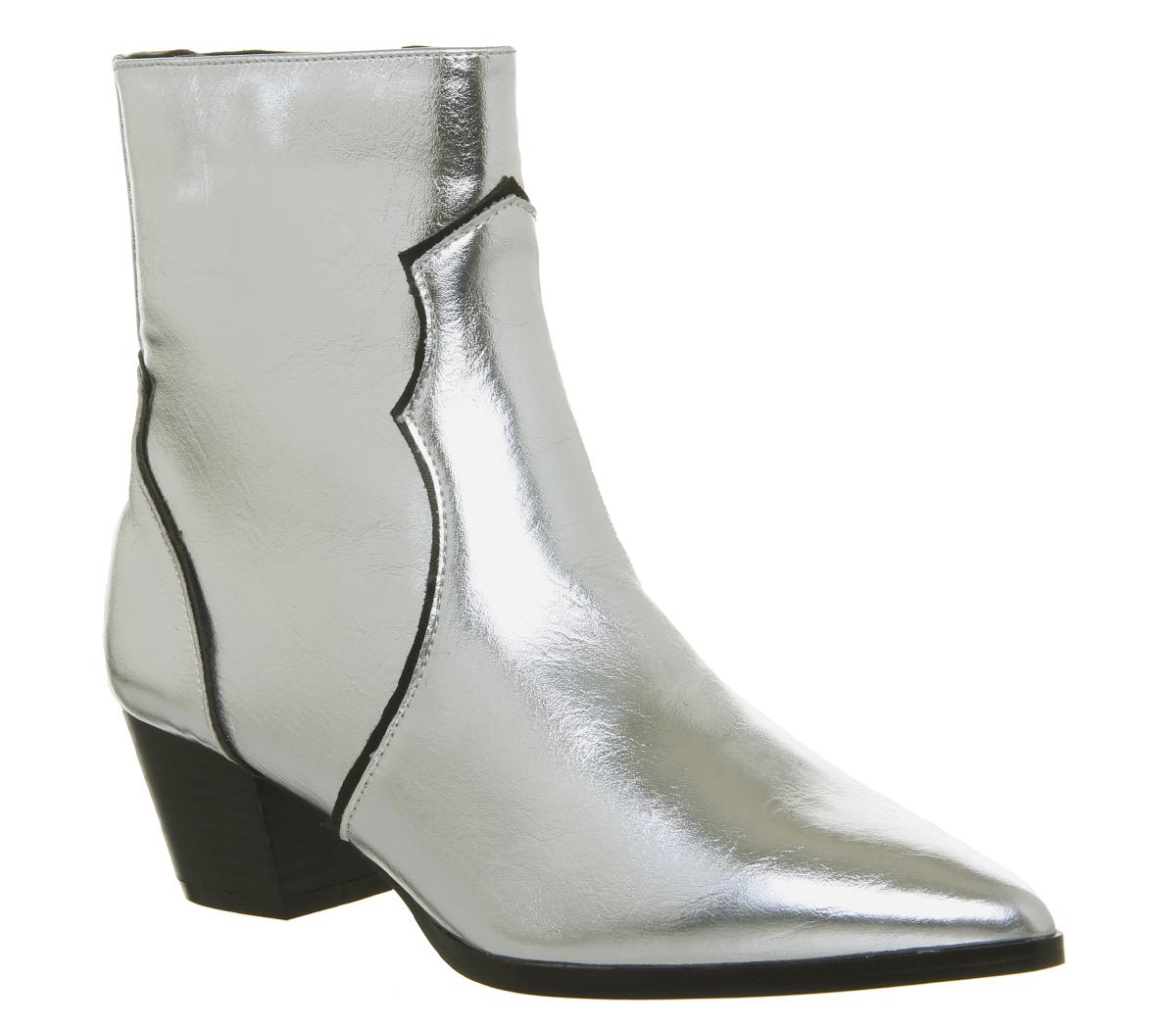 Damenschuhe Office Arlo Western Stiefel Stiefel Western SILVER Stiefel 48e1c3