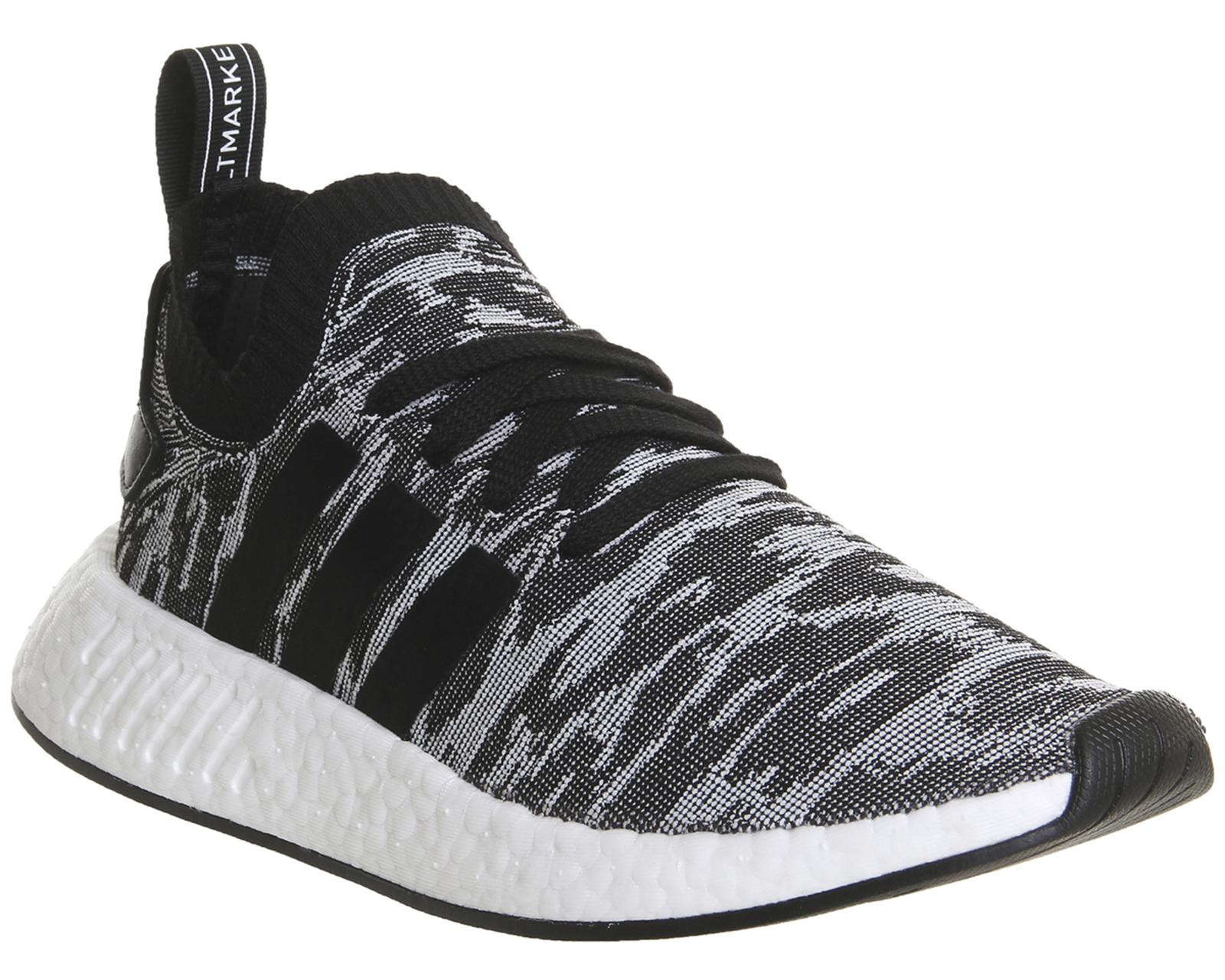 18d859715d550 Sentinel Adidas Nmd R2 Pk BLACK WHITE RED Trainers Shoes