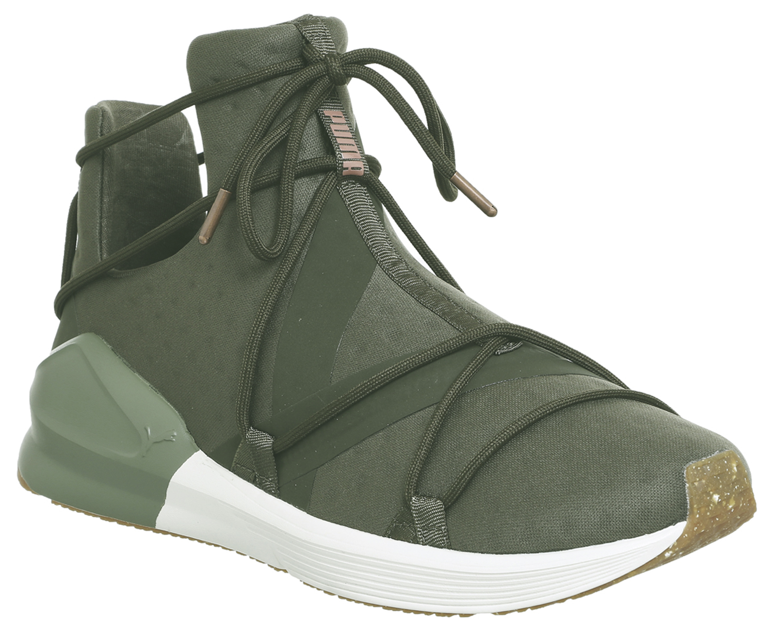 72e07805e6b Sentinel Womens Puma Fierce Rope Trainers Olive Night White Vr Trainers  Shoes